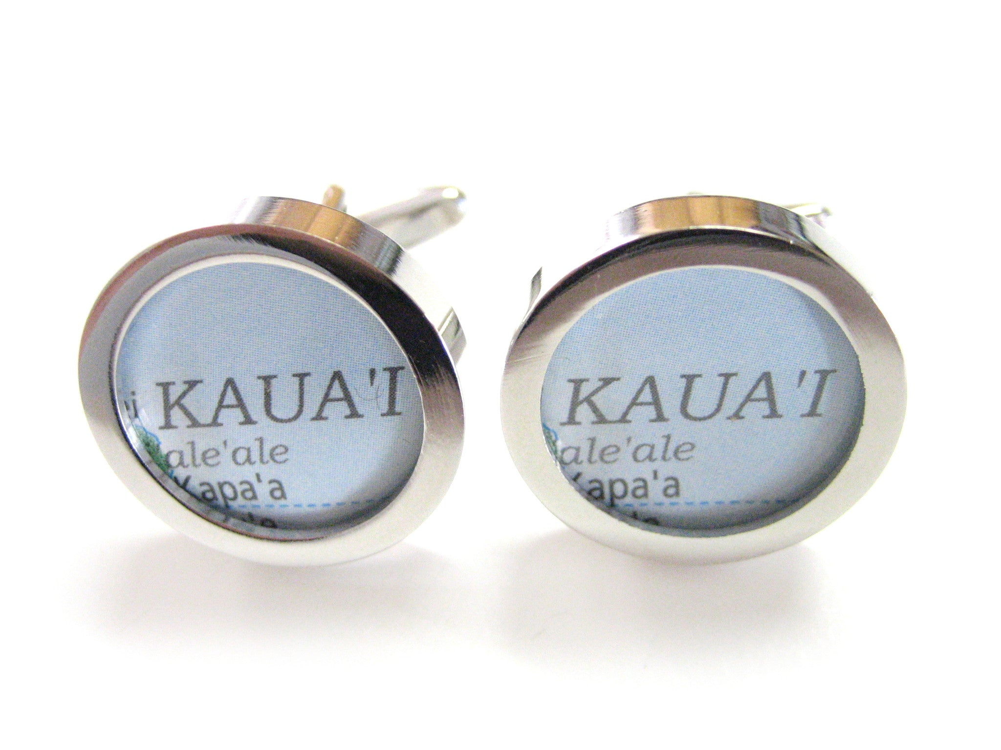 Kauai Hawaii Map Cufflinks