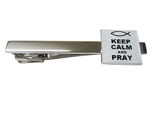 Keep Calm and Pray Square Tie Clip