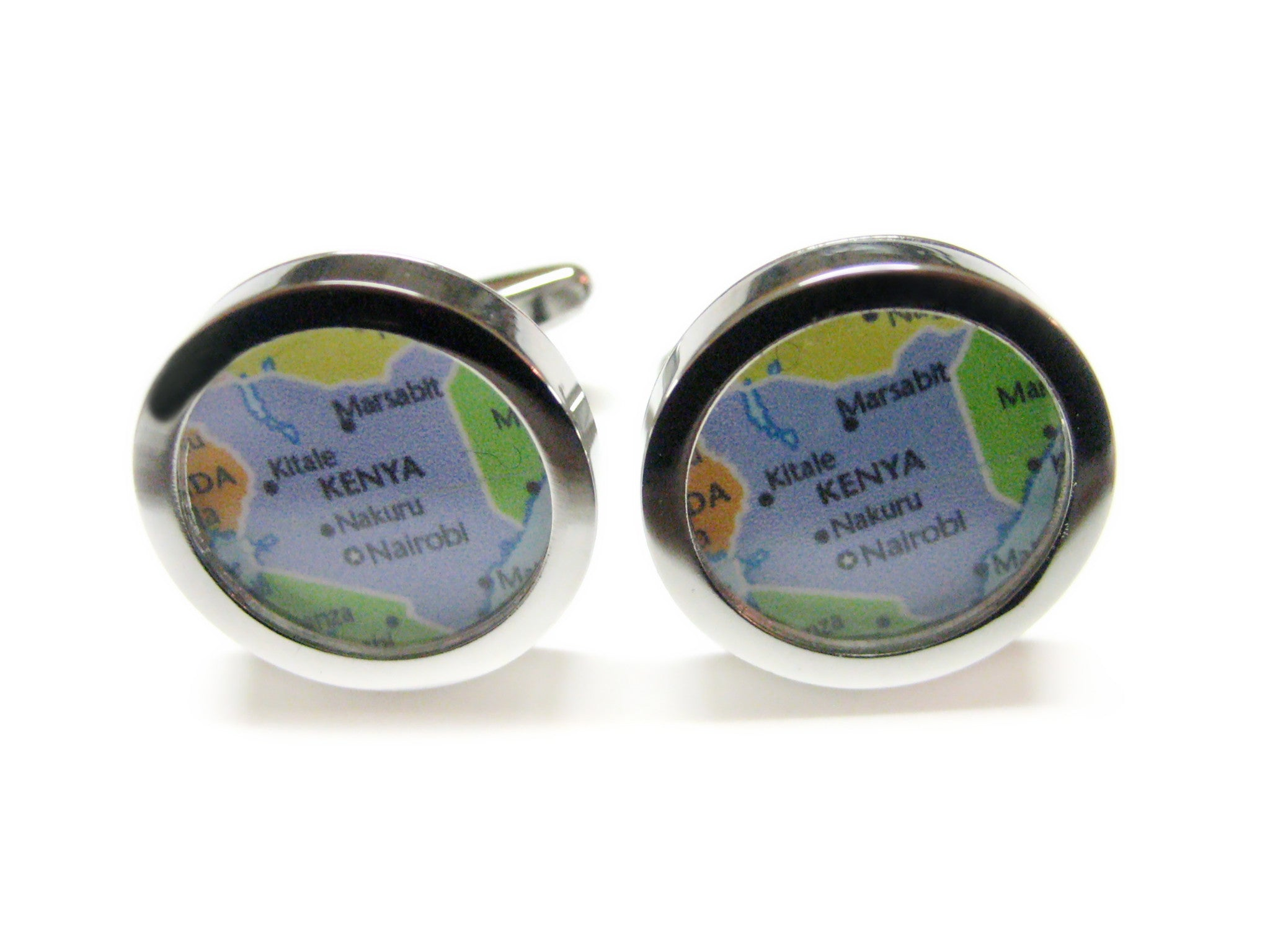 Kenya Map Cufflinks