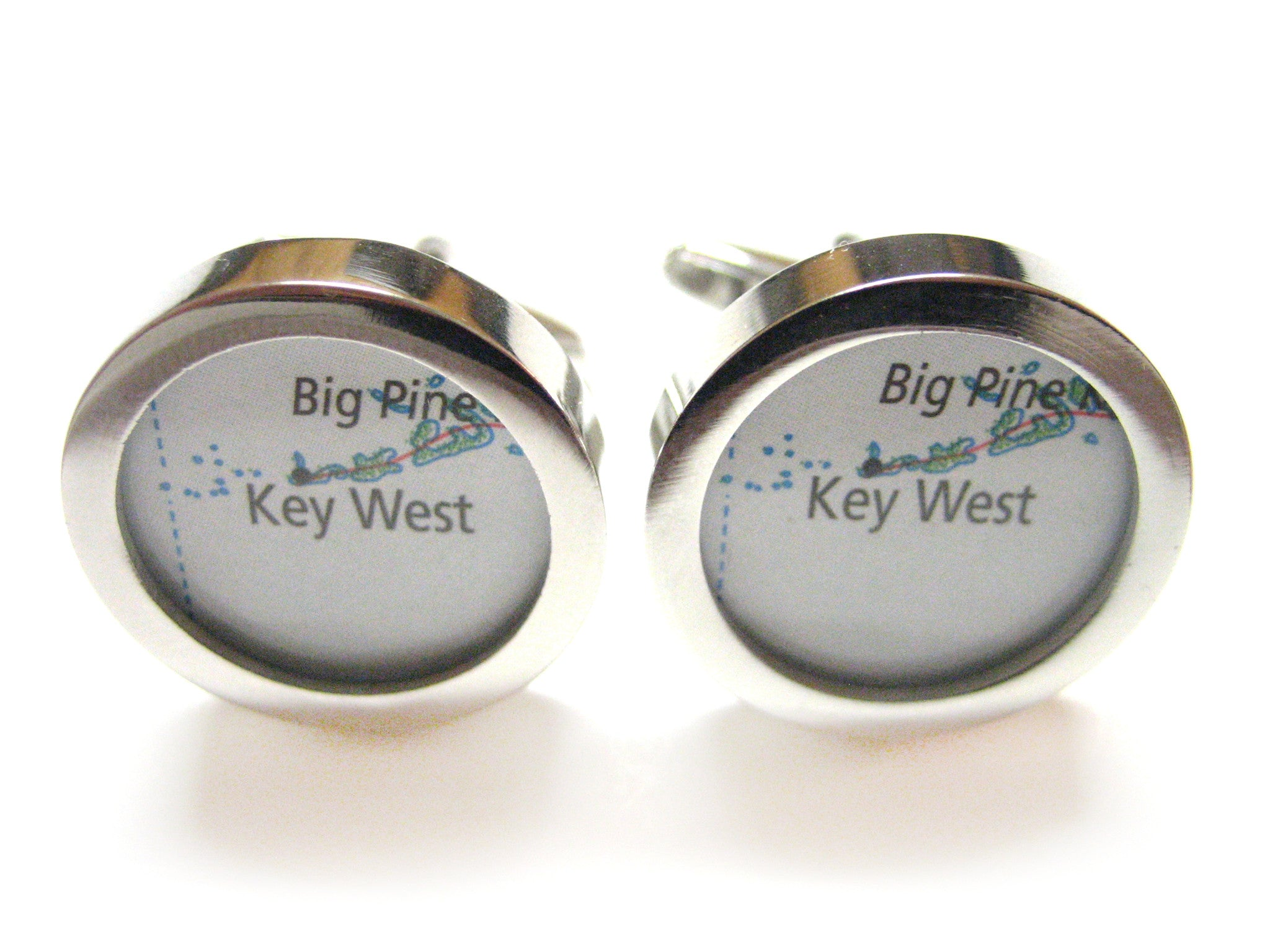 Key West Florida Map Cufflinks