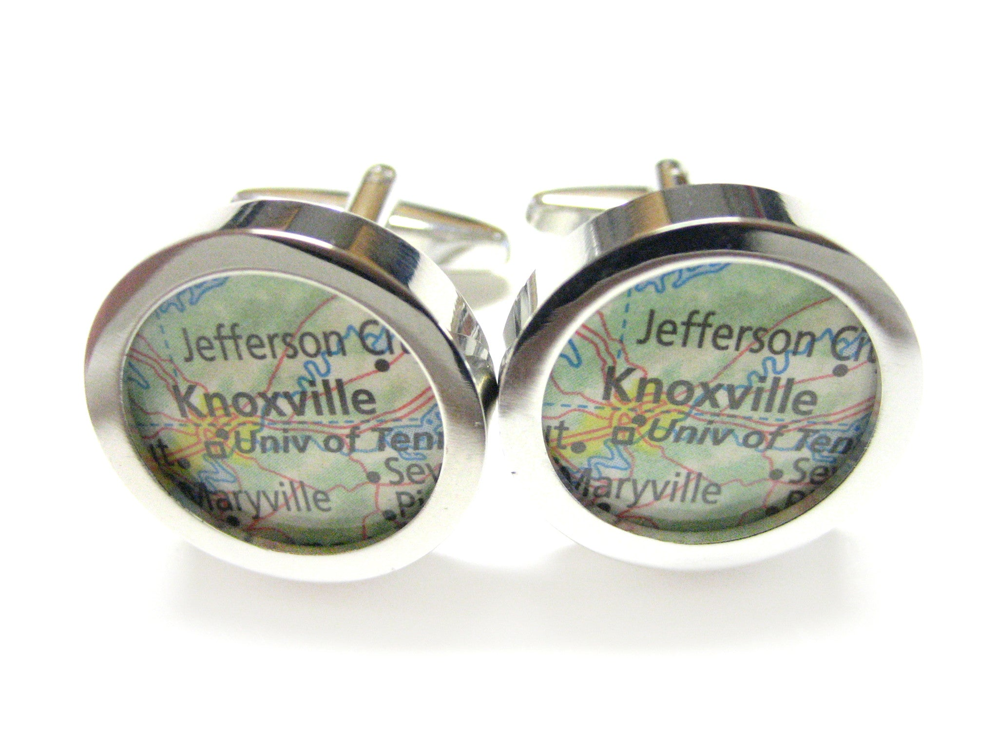 Knoxville Tennessee Map Cufflinks