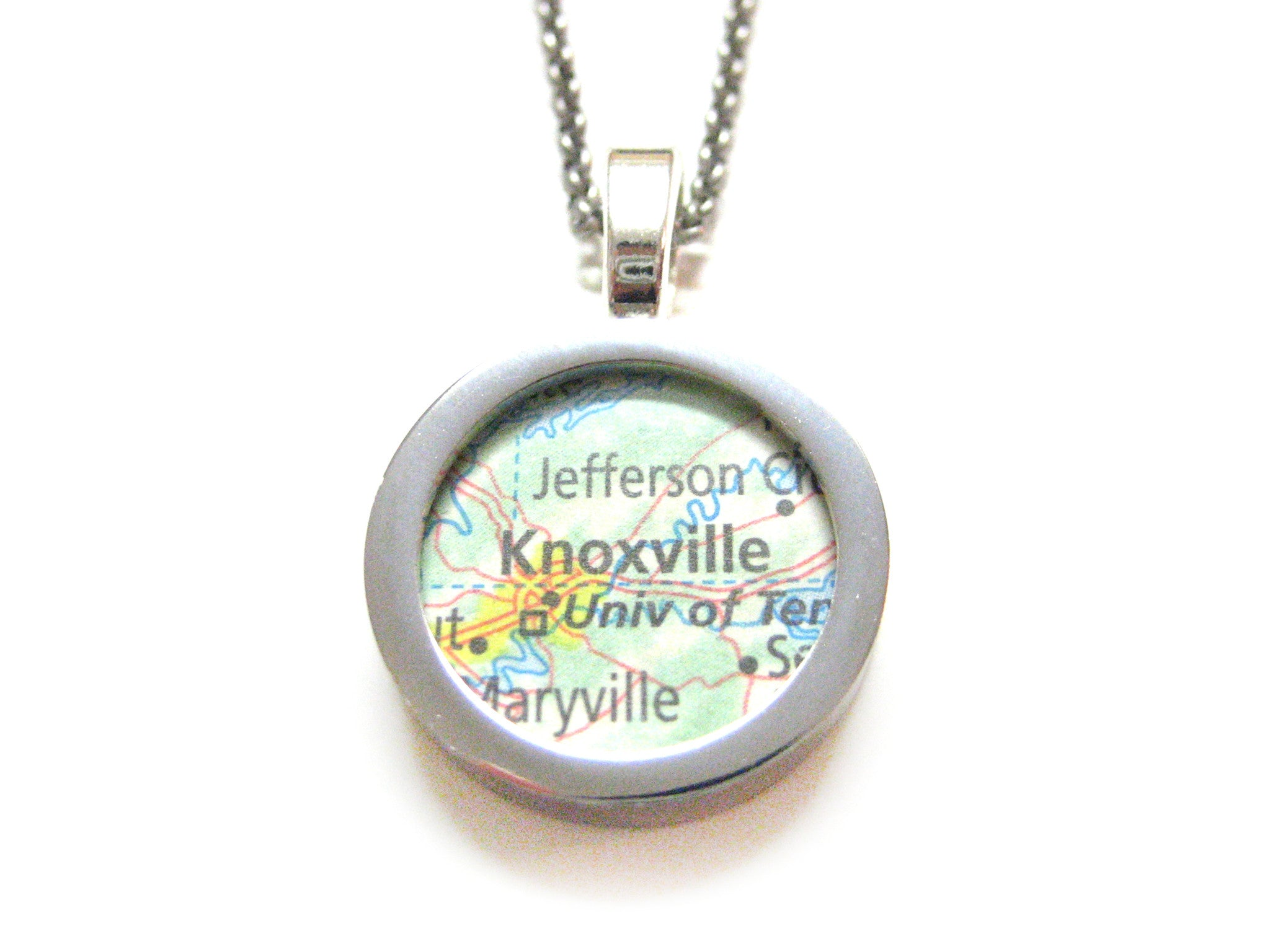 Knoxville Tennessee Map Pendant Necklace