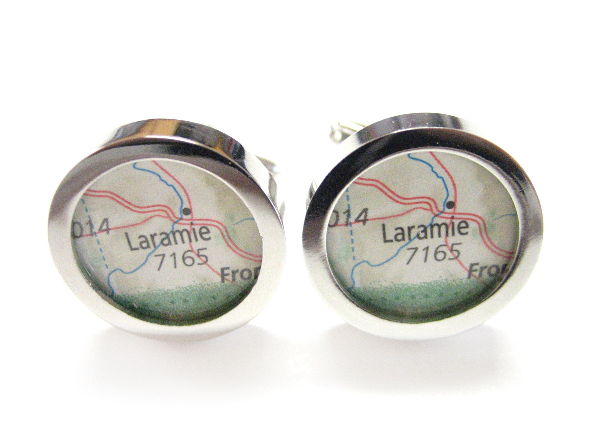 Laramie Wisconsin Map Cufflinks