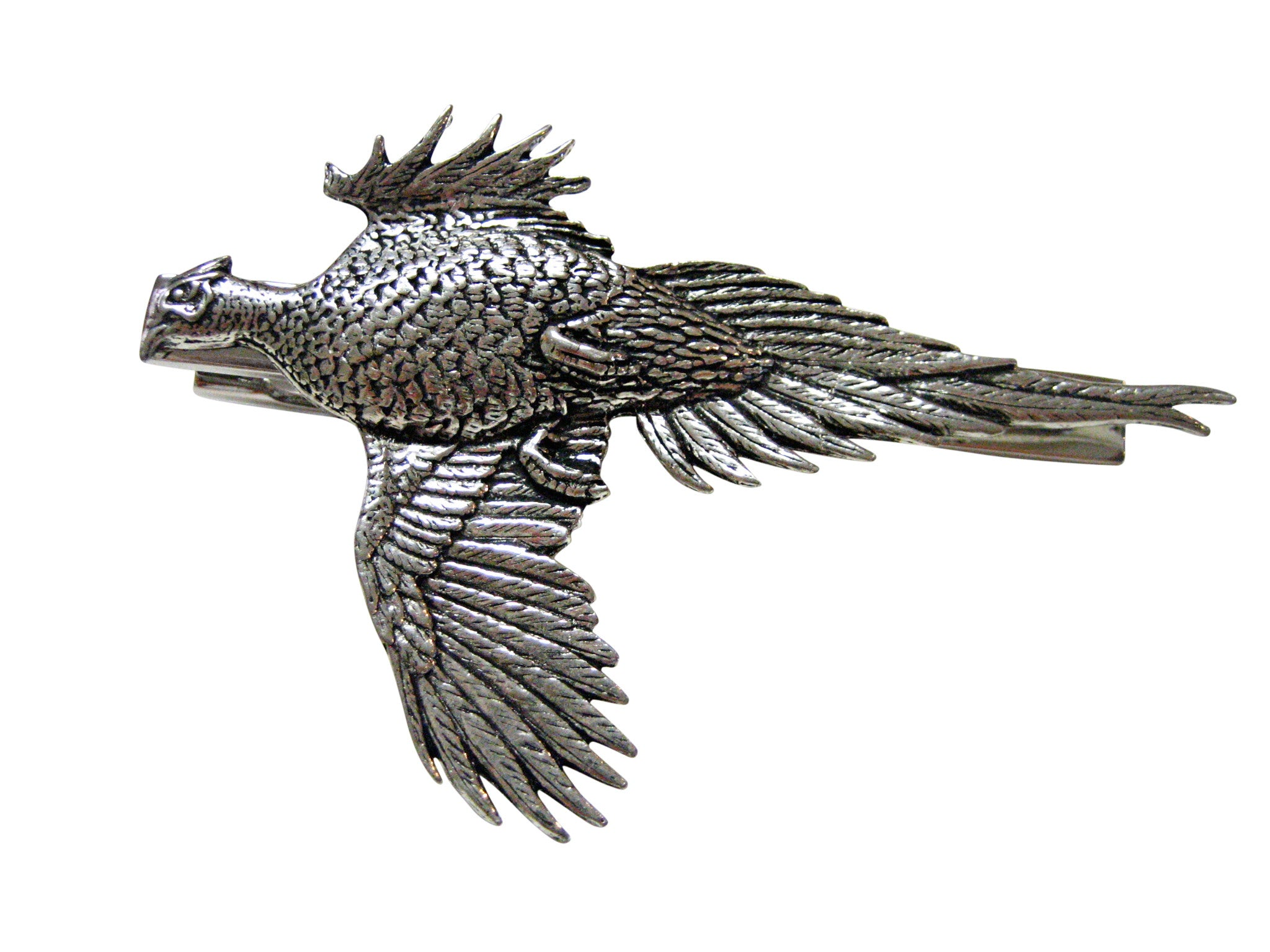 Large Flying Pheasant Full Square Tie Clip