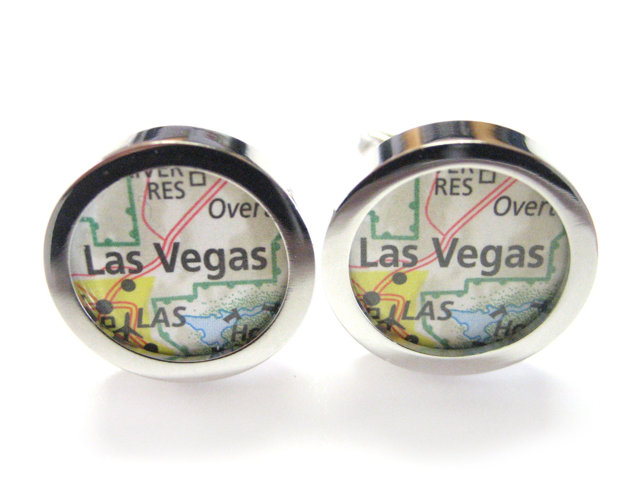 Las Vegas Nevada Map Cufflinks
