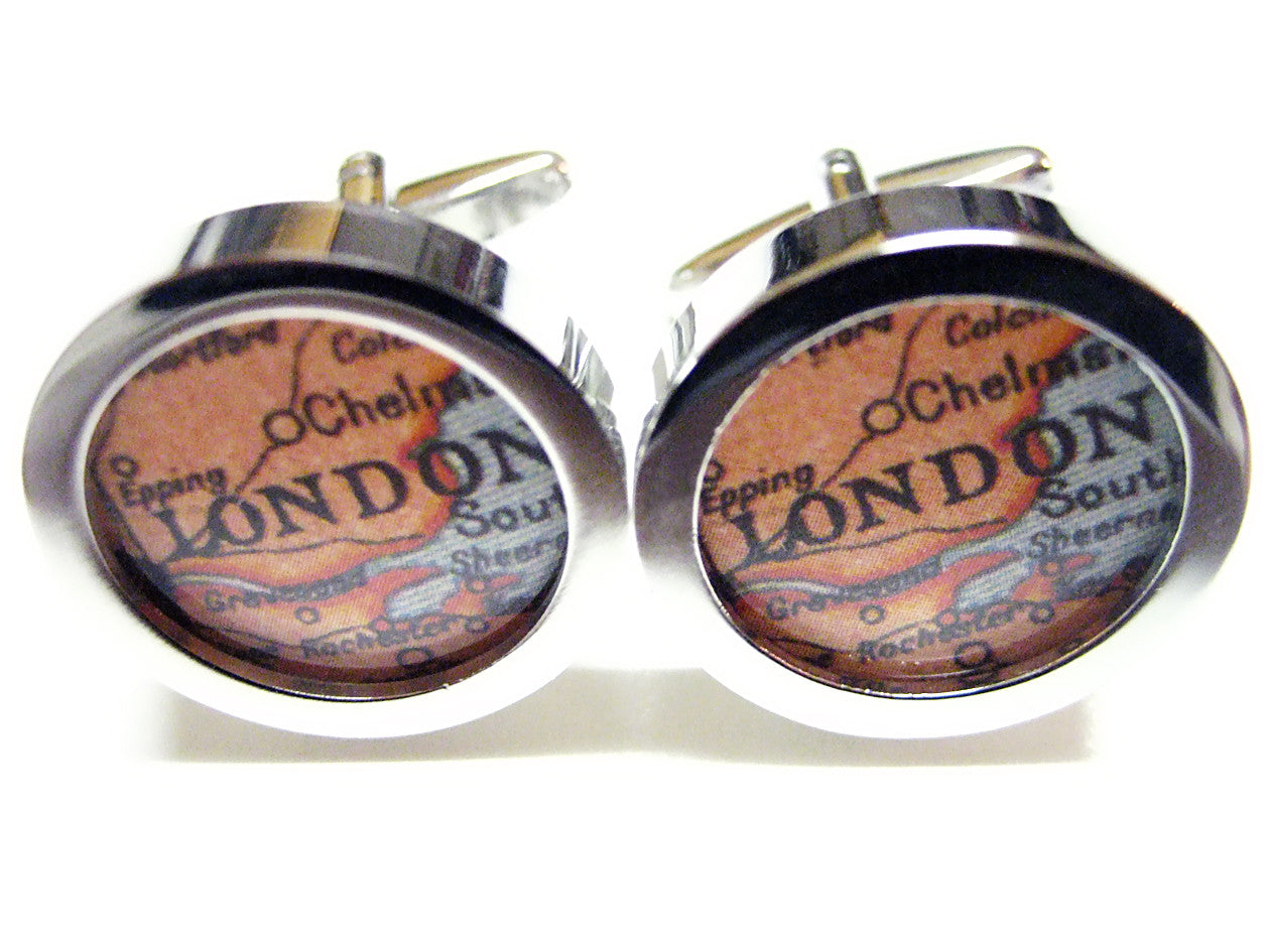 London Map Cufflinks