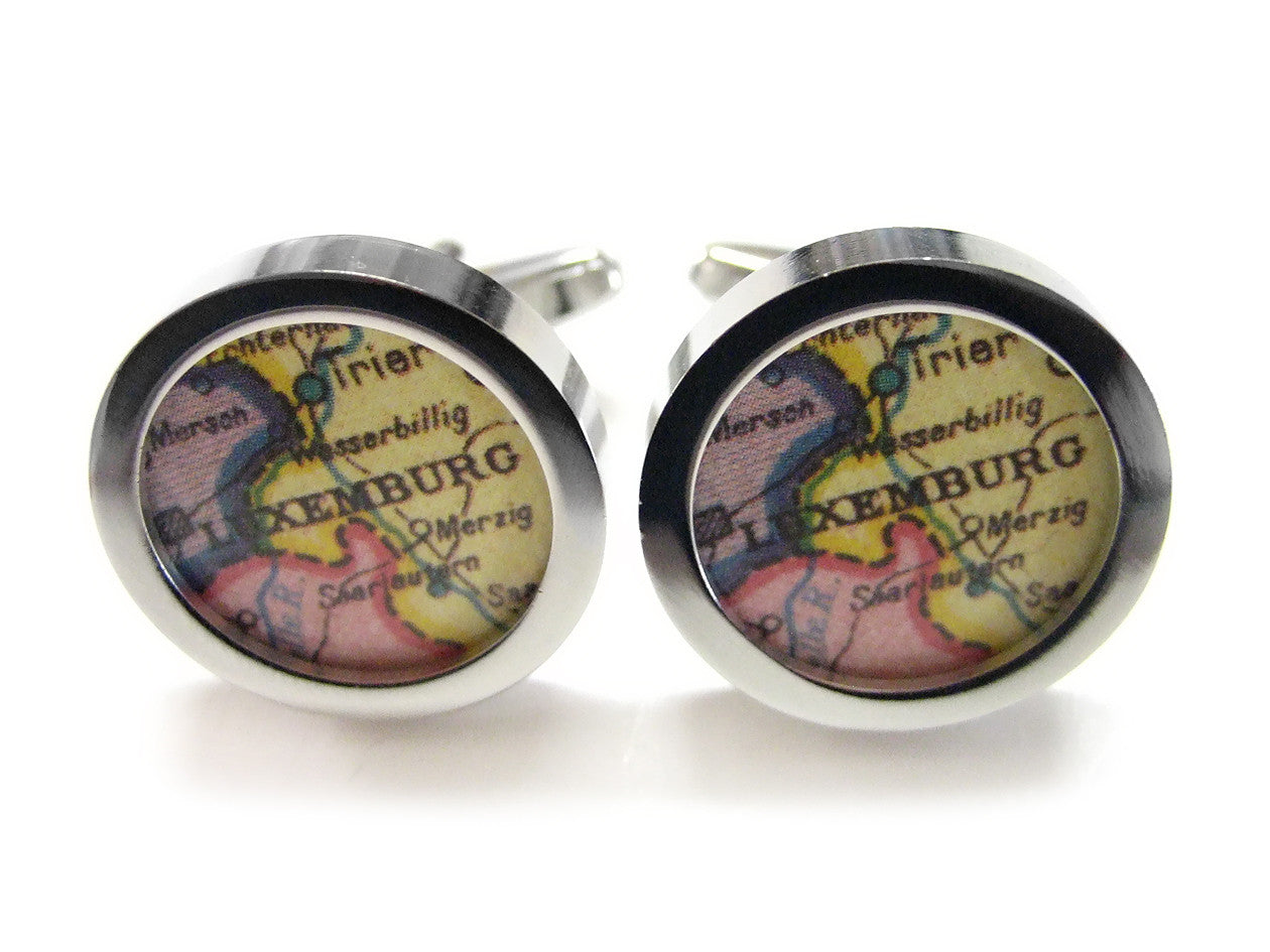 Luxemburg Map Cufflinks