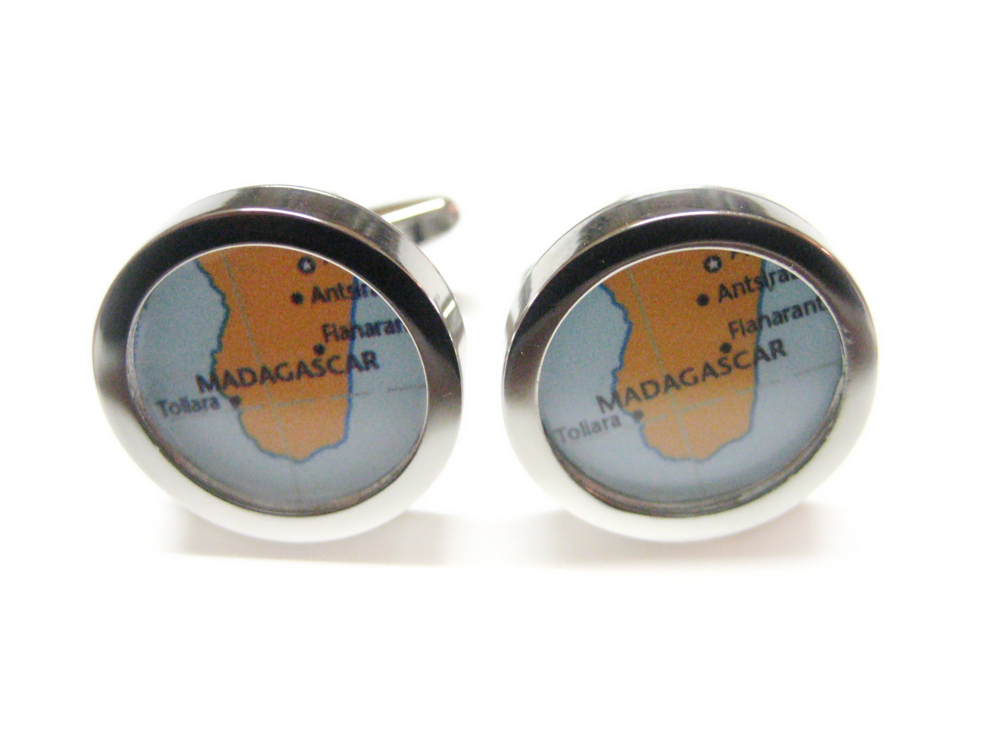 Madagascar Map Cufflinks