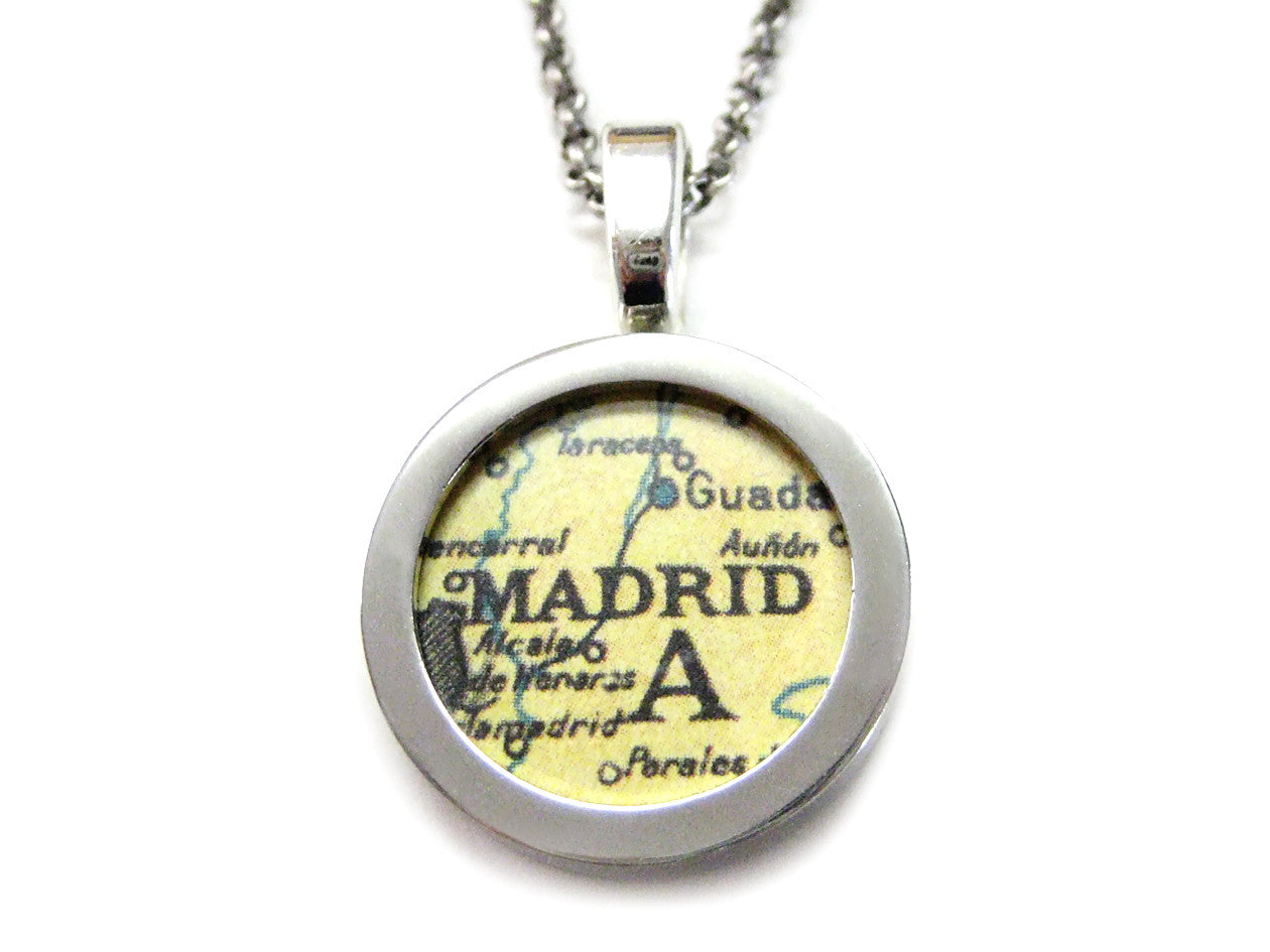 Madrid Map Pendant Necklace