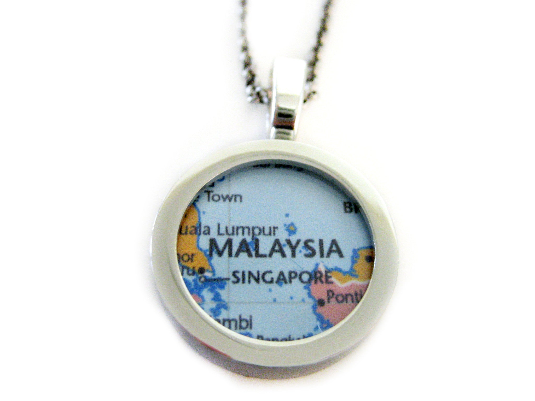 Malaysia Map Pendant Necklace