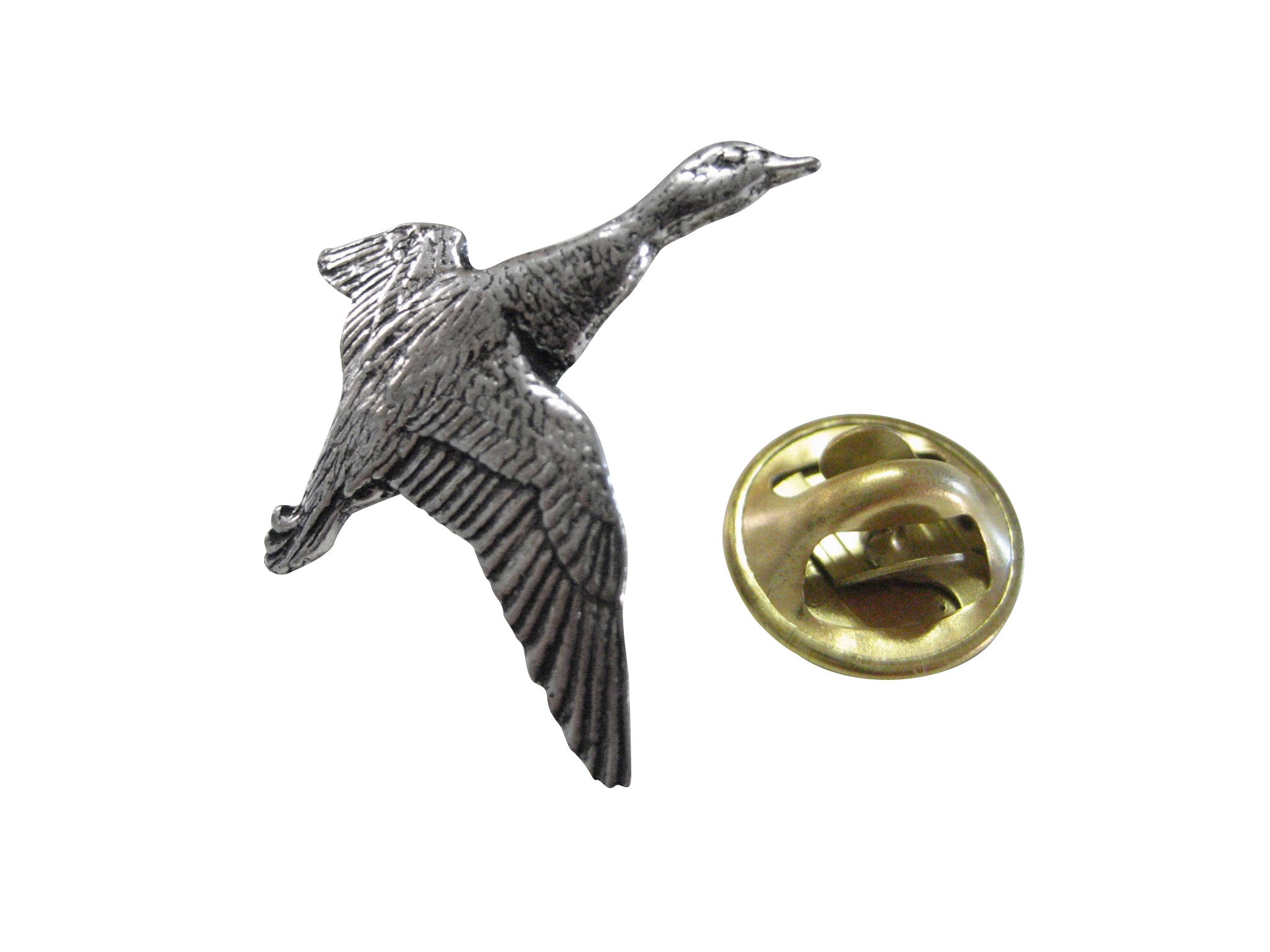 Flying Mallard Duck Birds Lapel Pin