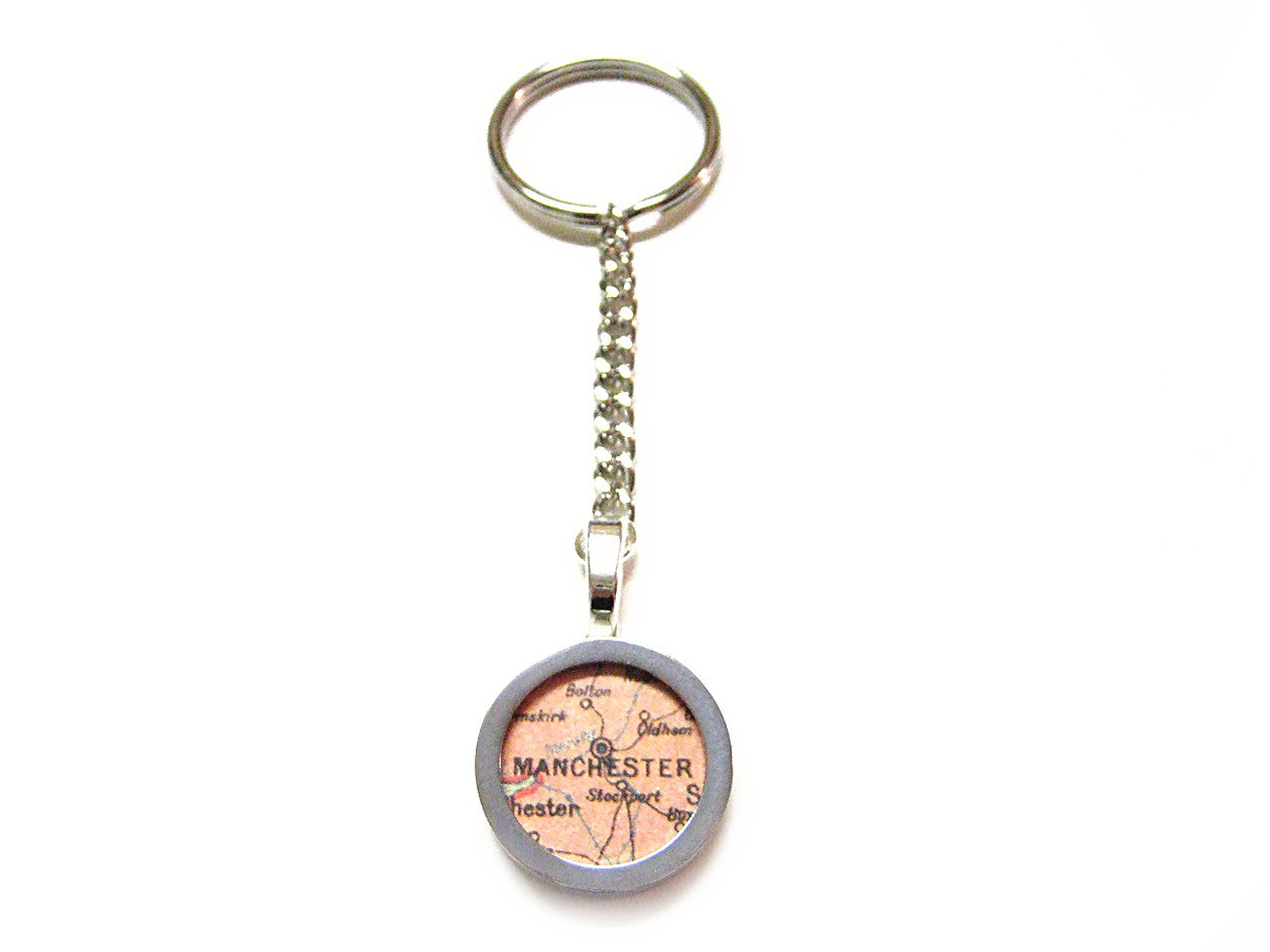 Manchester Map Key Chain