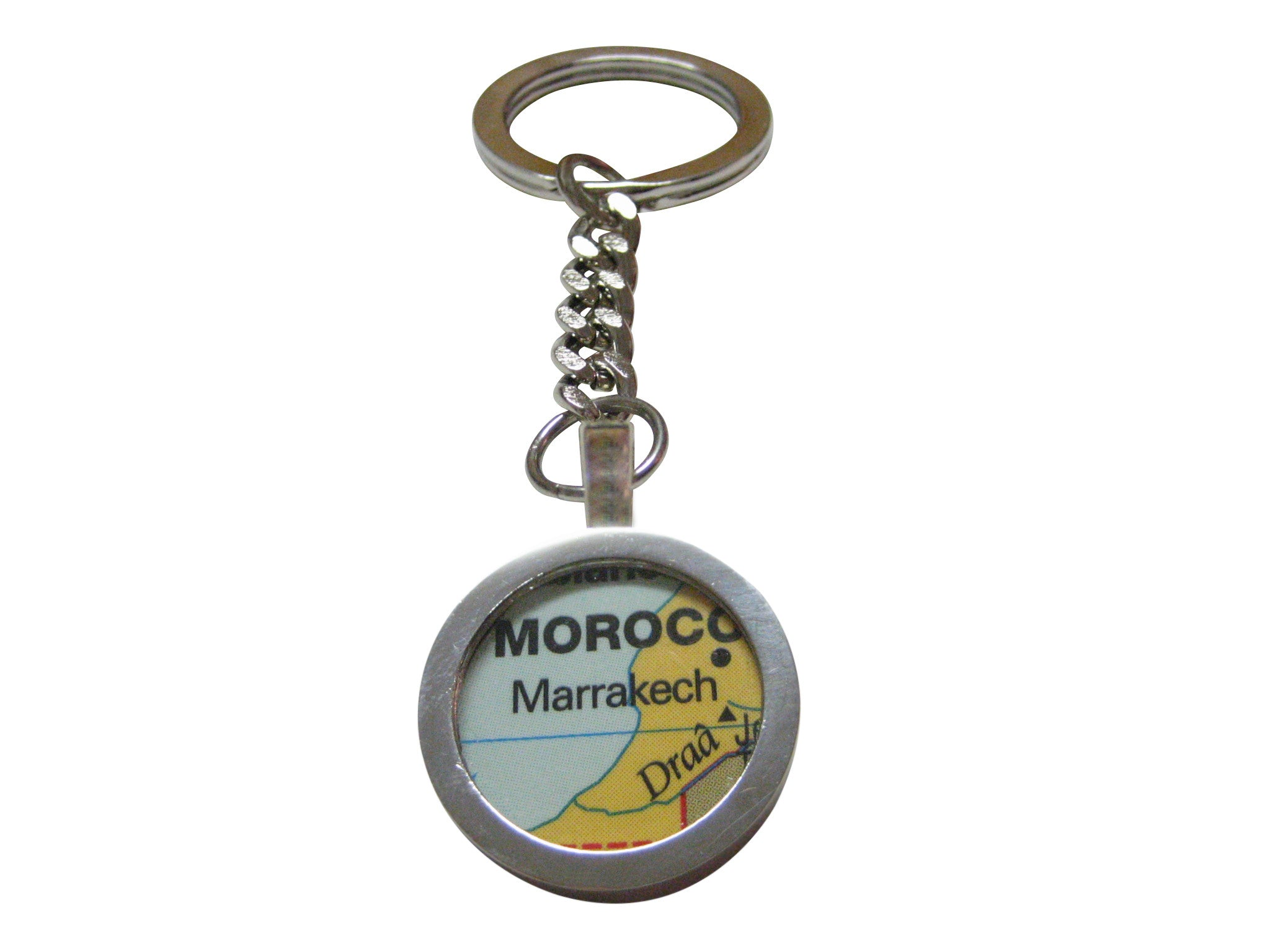 Marrakech Morocco Map Pendant Key Chain