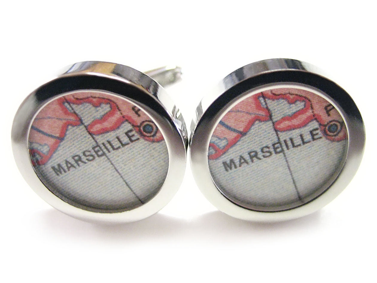 Marseille Map Cufflinks
