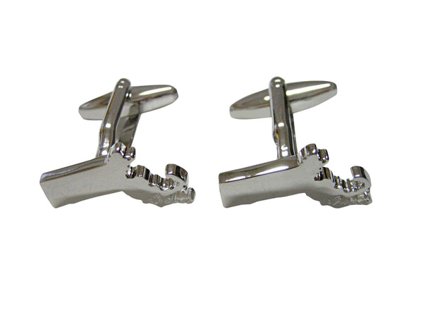 Massachusetts State Map Shape Cufflinks
