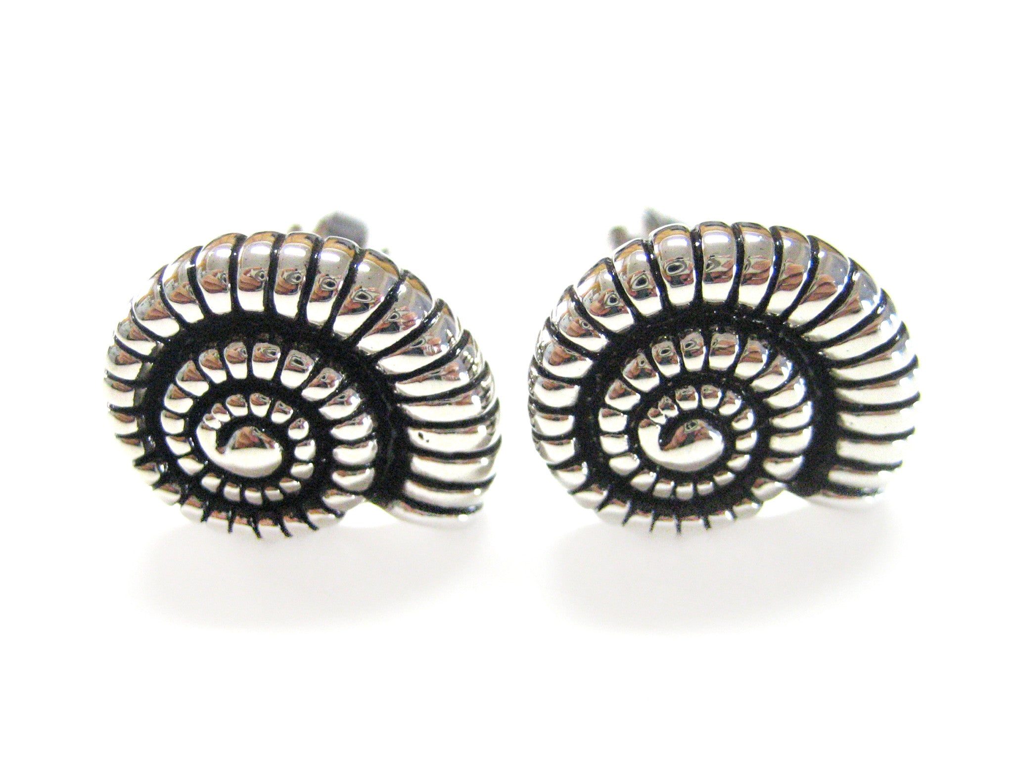 Metal Ammonite Cufflinks