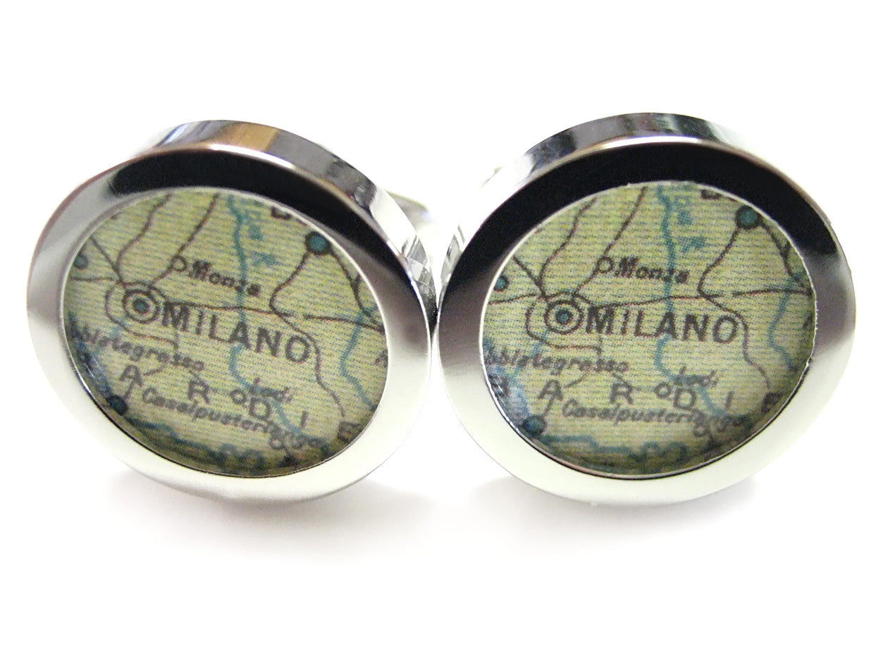 Milan Map Cufflinks