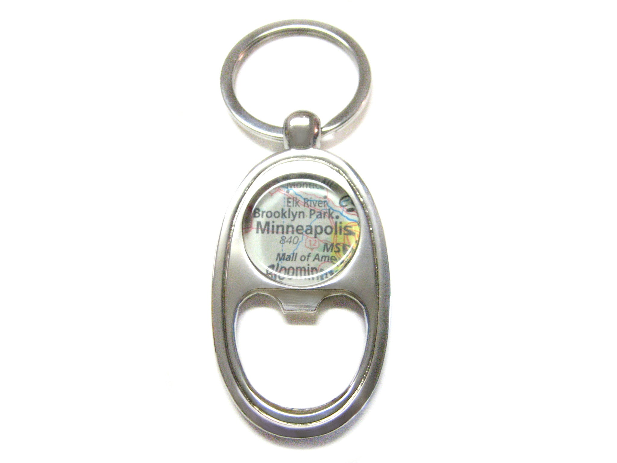 Minneapolis Minnesota Map Bottle Opener Key Chain