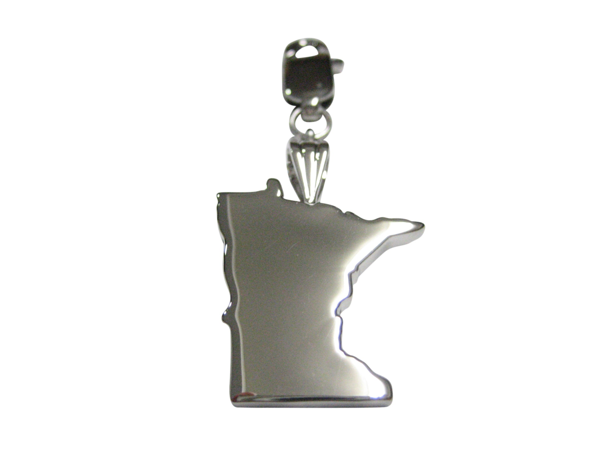 Minnesota State Map Shape Pendant Zipper Pull Charm