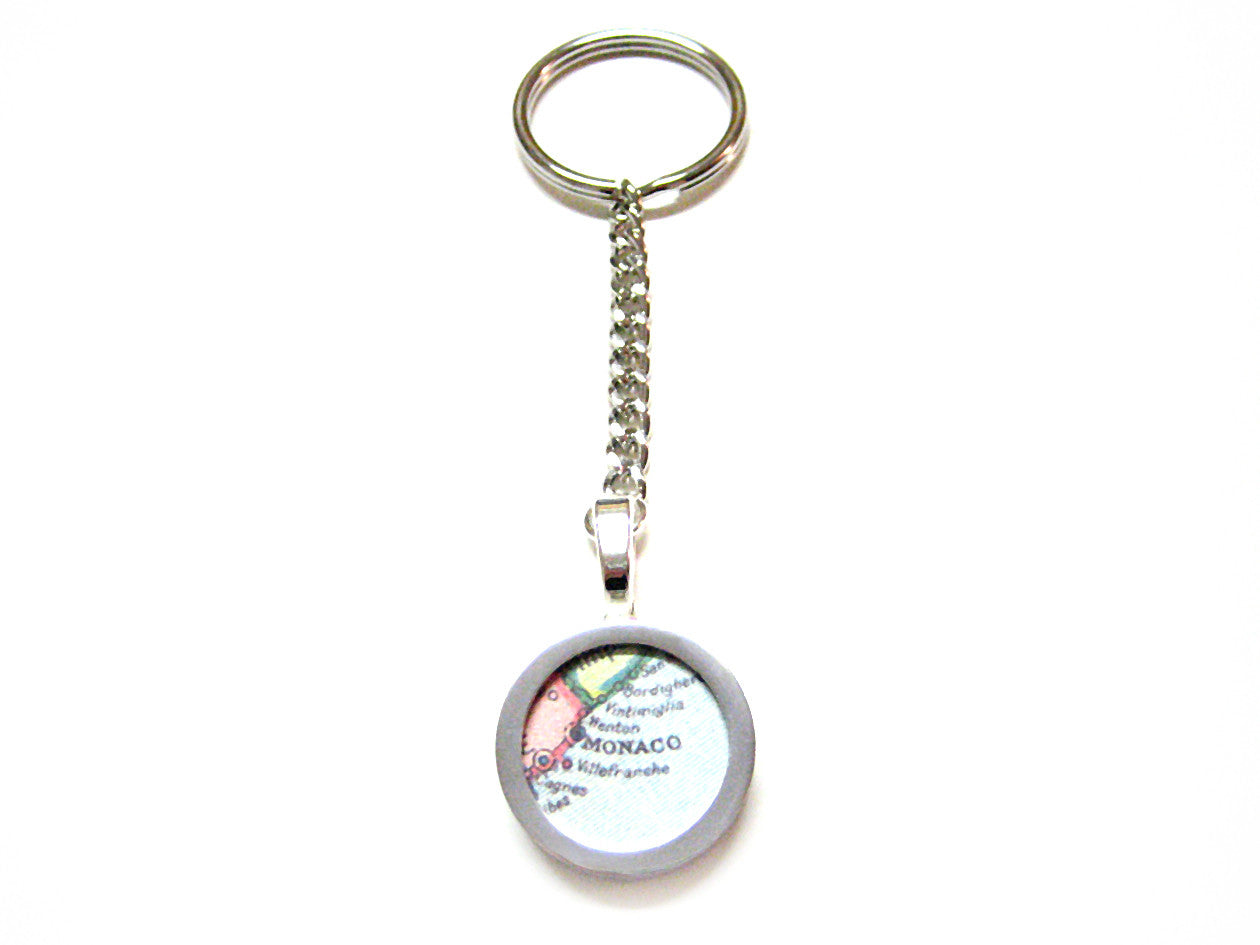 Monaco Map Key Chain