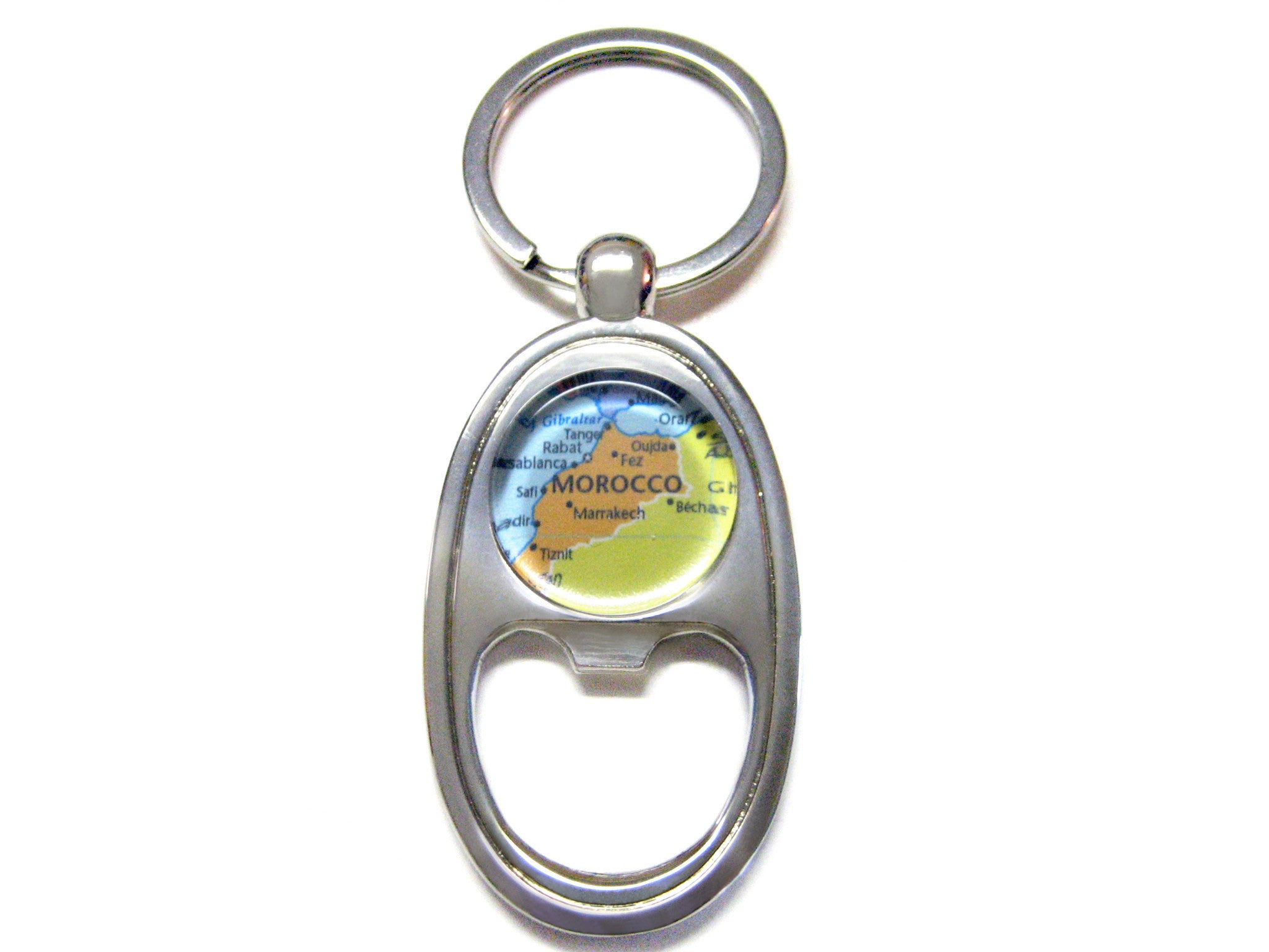 Morocco Map Bottle Opener Key Chain