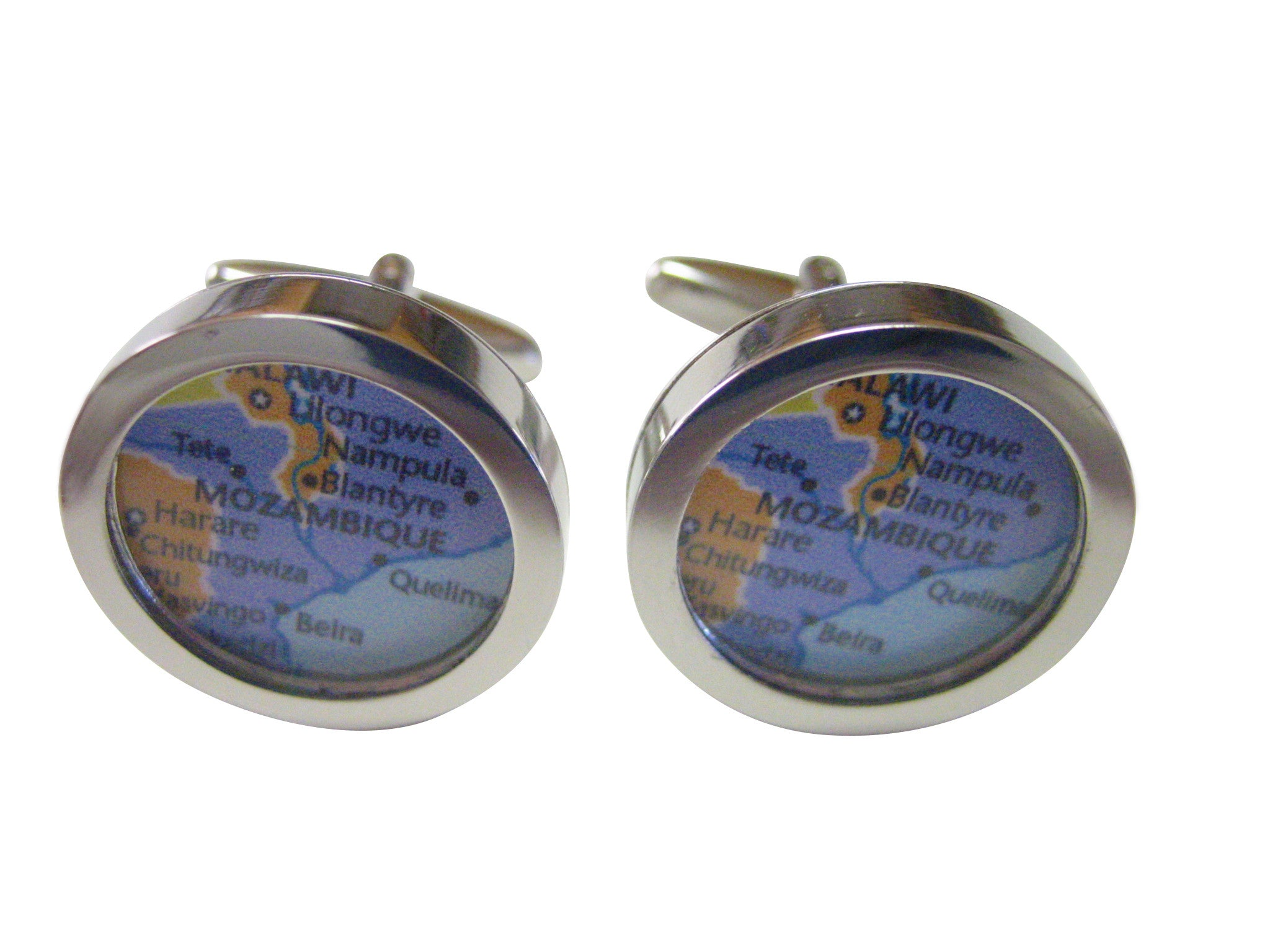 Mozambique Map Cufflinks