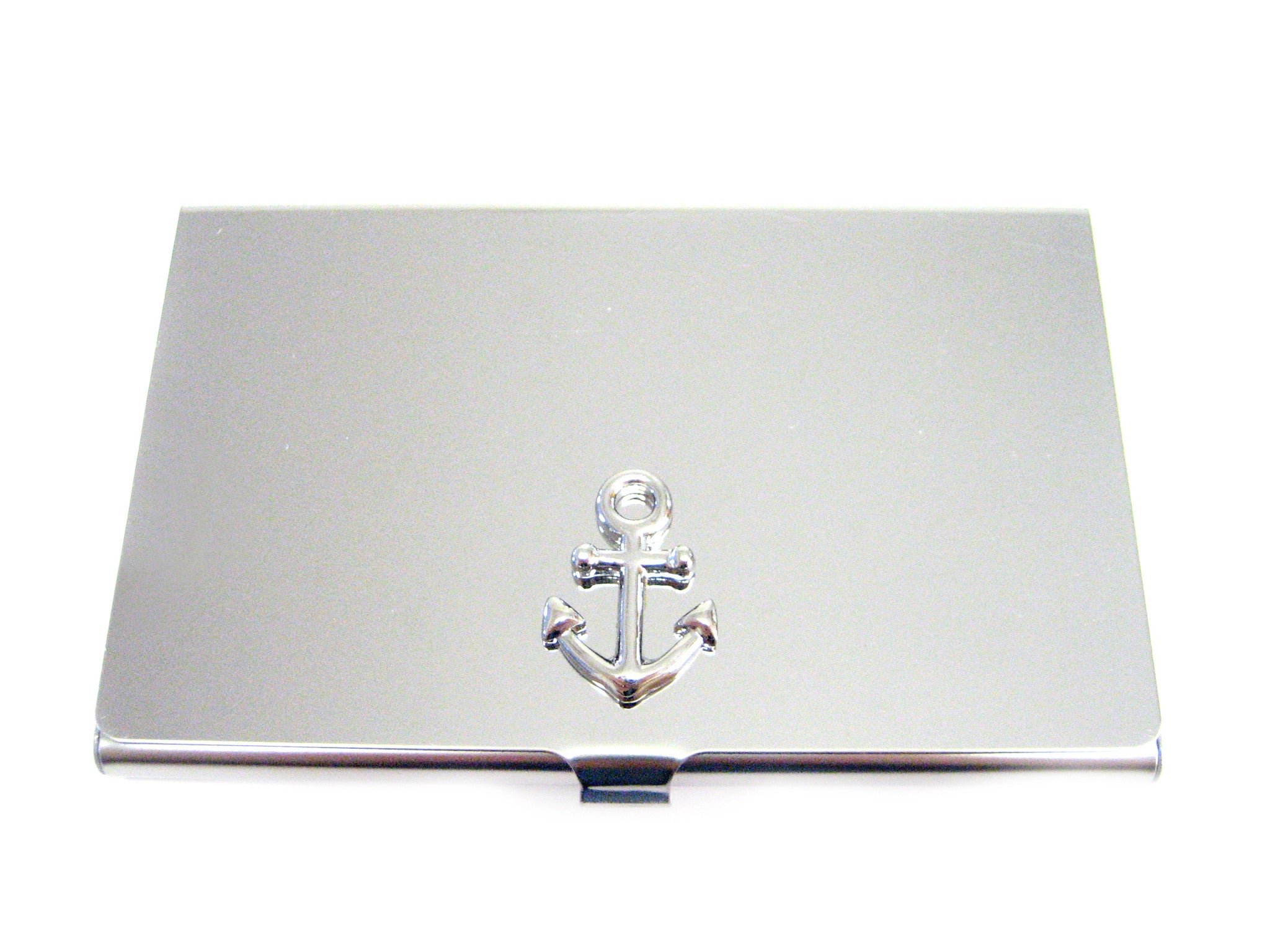 Business Card Holder with Nautical Anchor Pendant