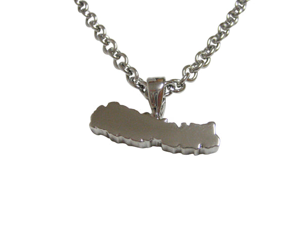 Nepal Map Shape Pendant Necklace