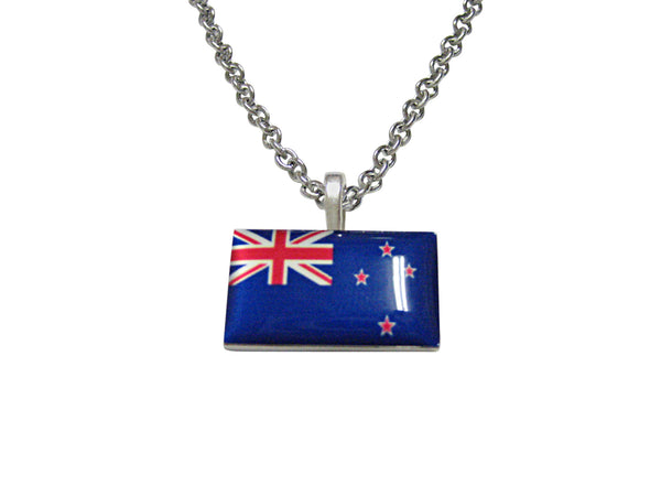 New Zealand Flag Pendant Necklace