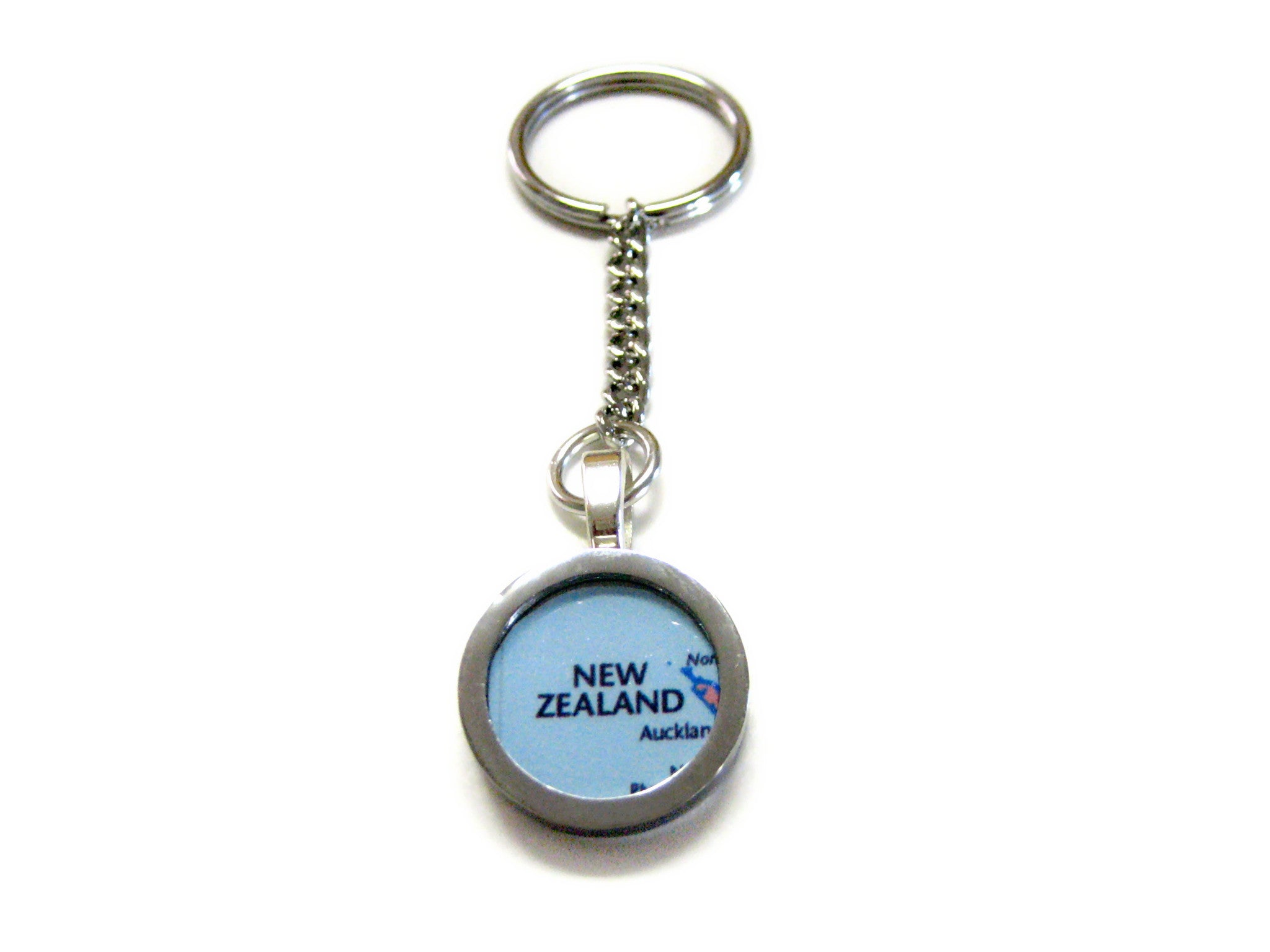 New Zealand Map Pendant Keychain