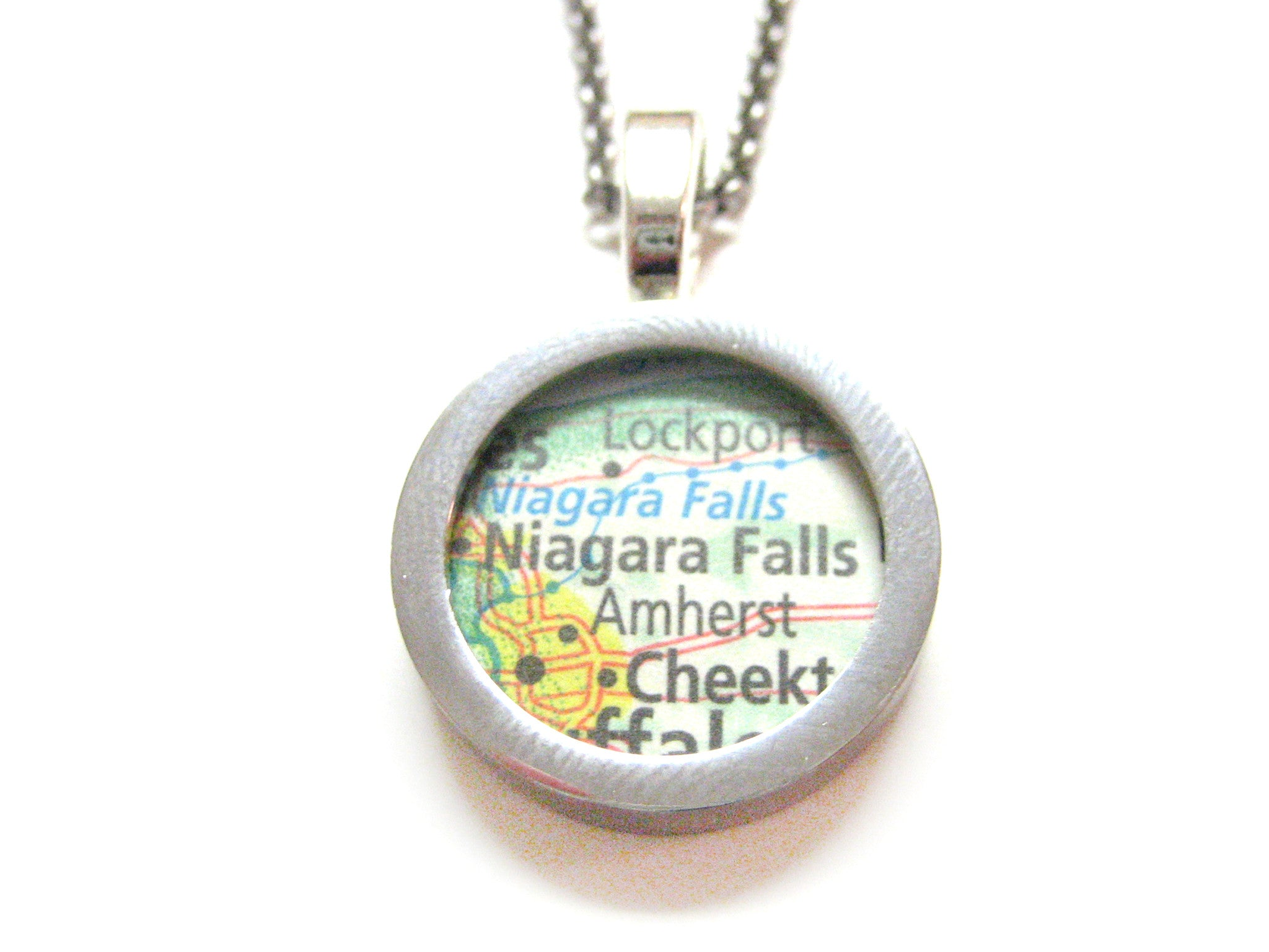 Niagara Falls Map Pendant Necklace