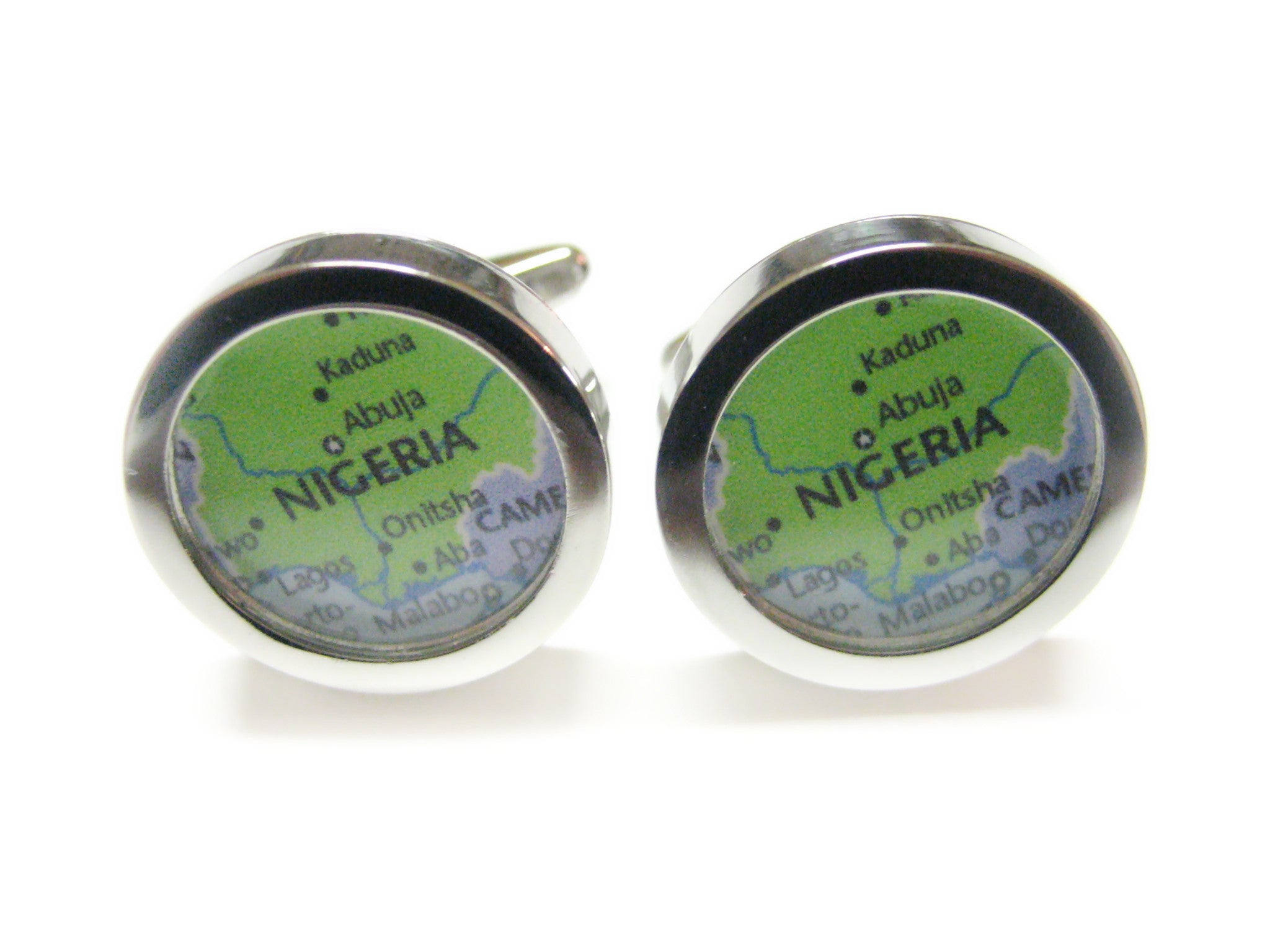 Nigeria Map Cufflinks