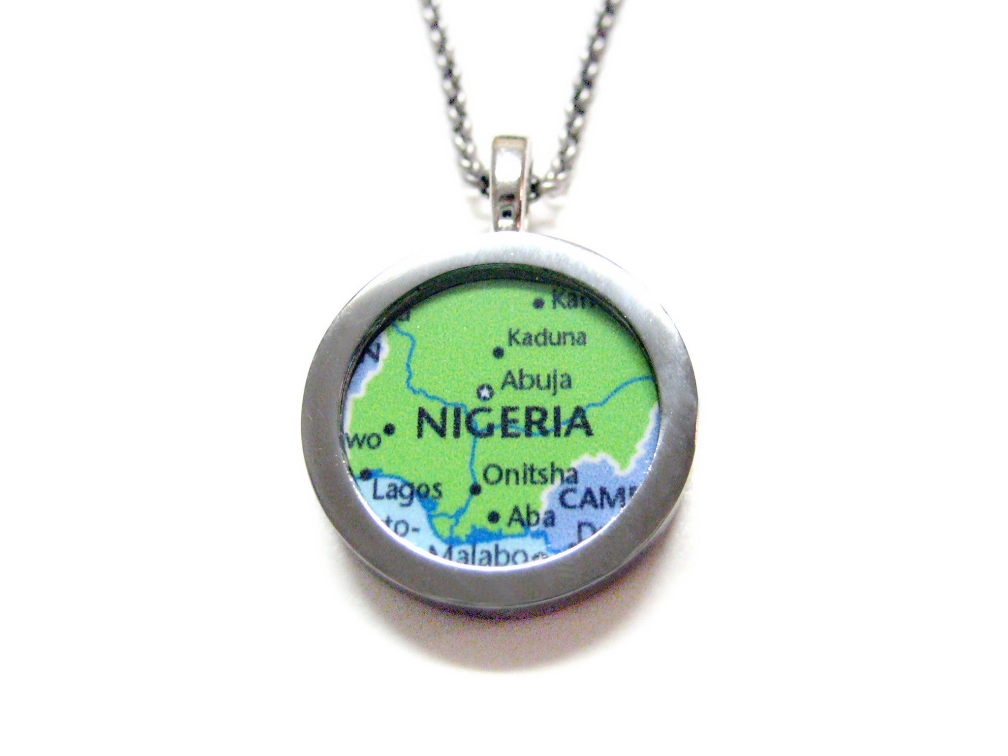 Nigeria Map Pendant Necklace