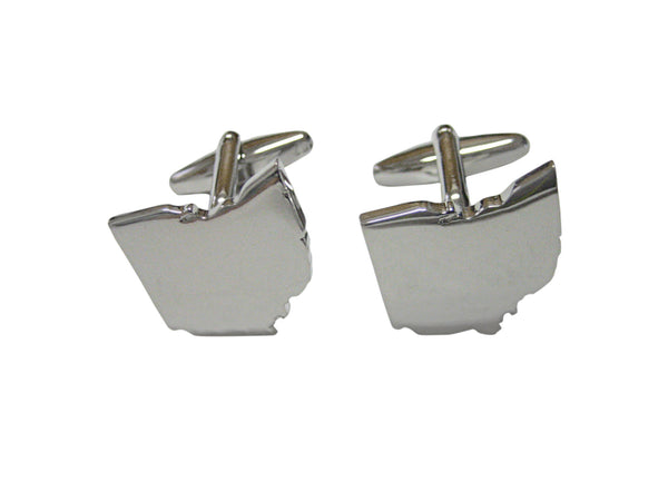 Ohio State Map Shape Cufflinks