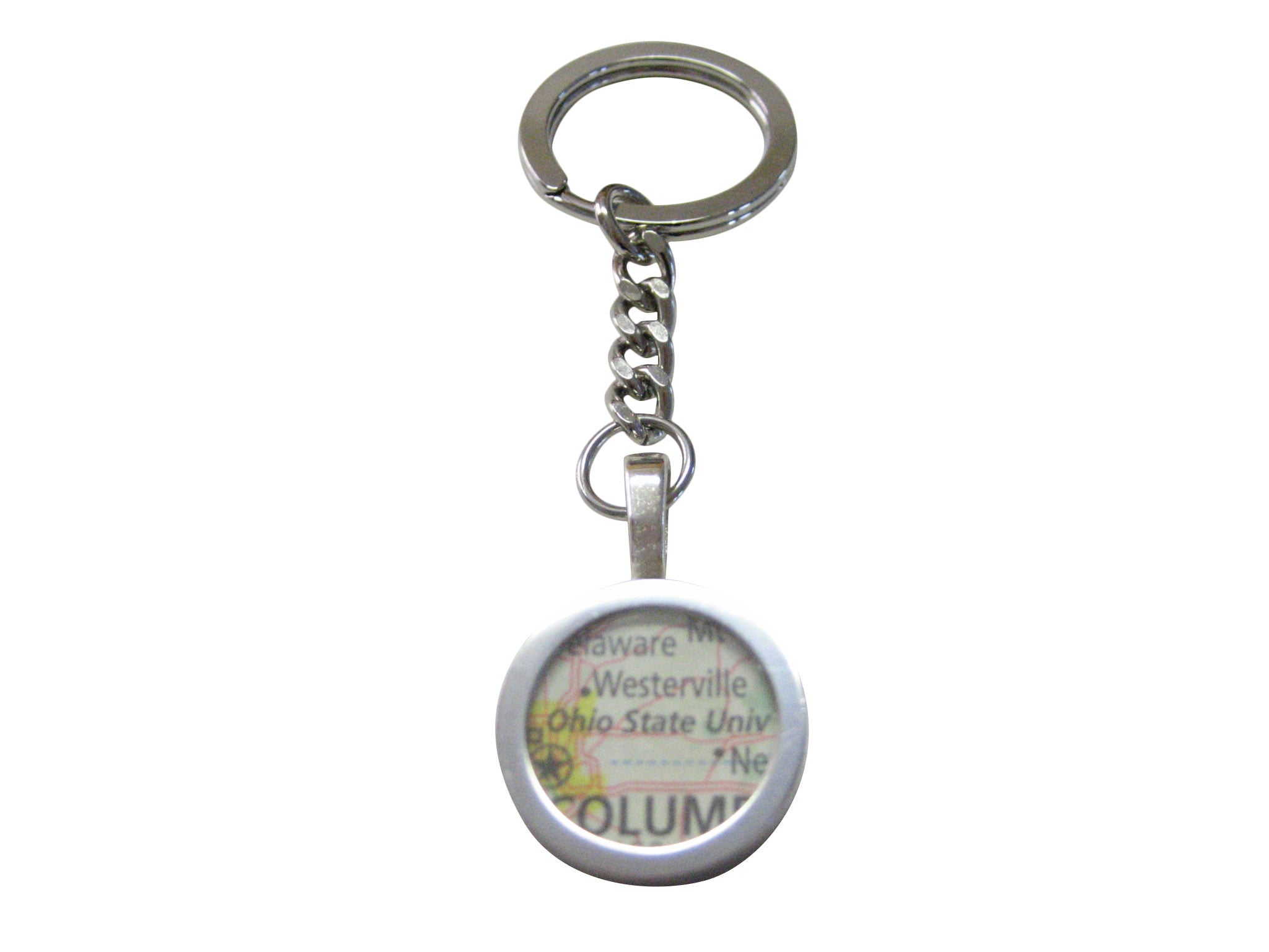 Ohio State University Map Pendant Keychain