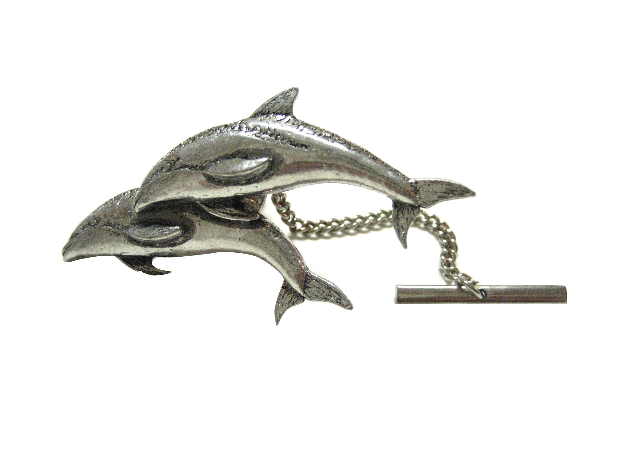 Pair of Dolphins Tie Tack