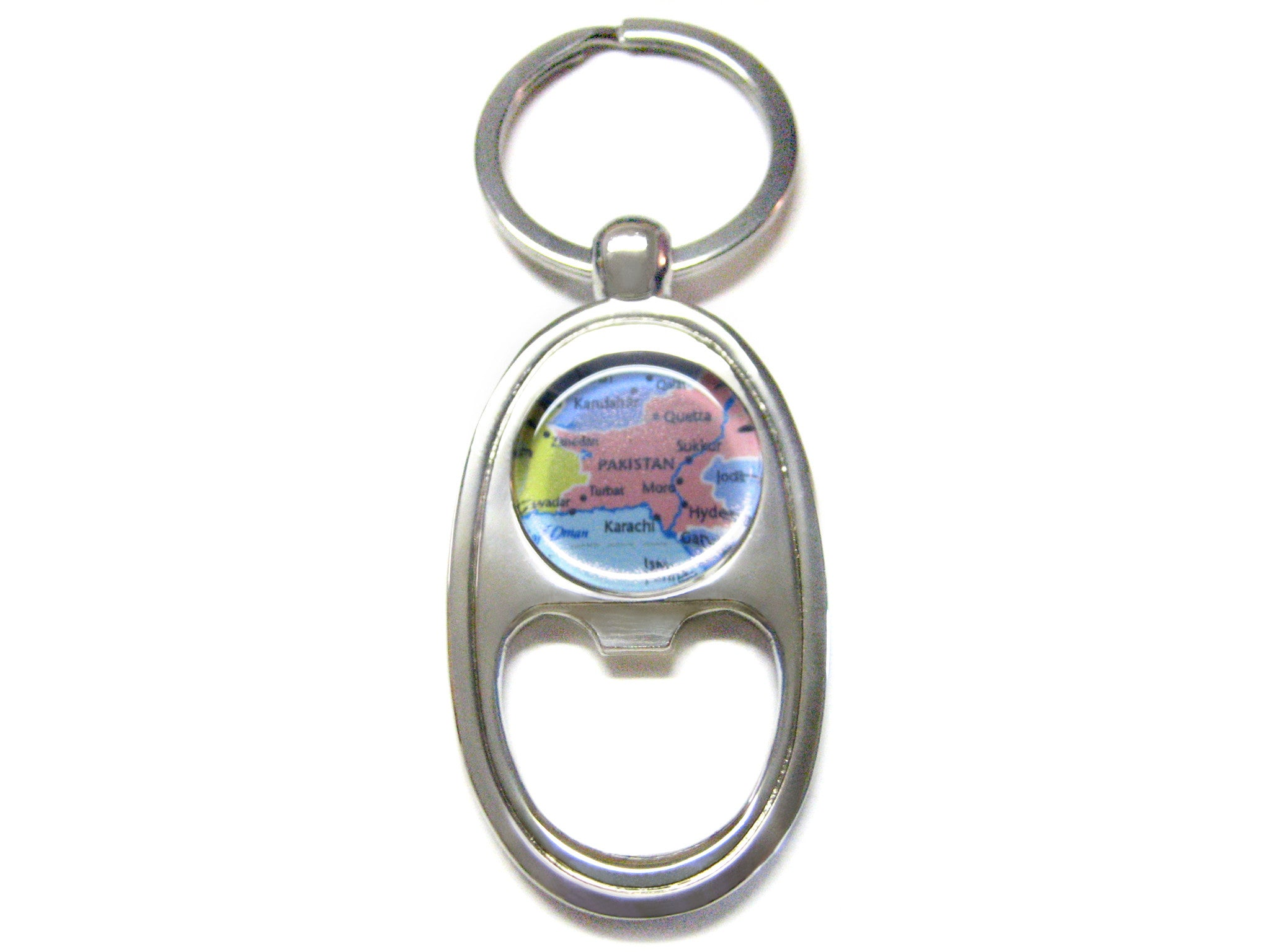 Pakistan Map Bottle Opener Key Chain