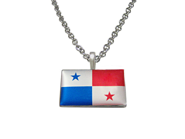 Panama Flag Pendant Necklace
