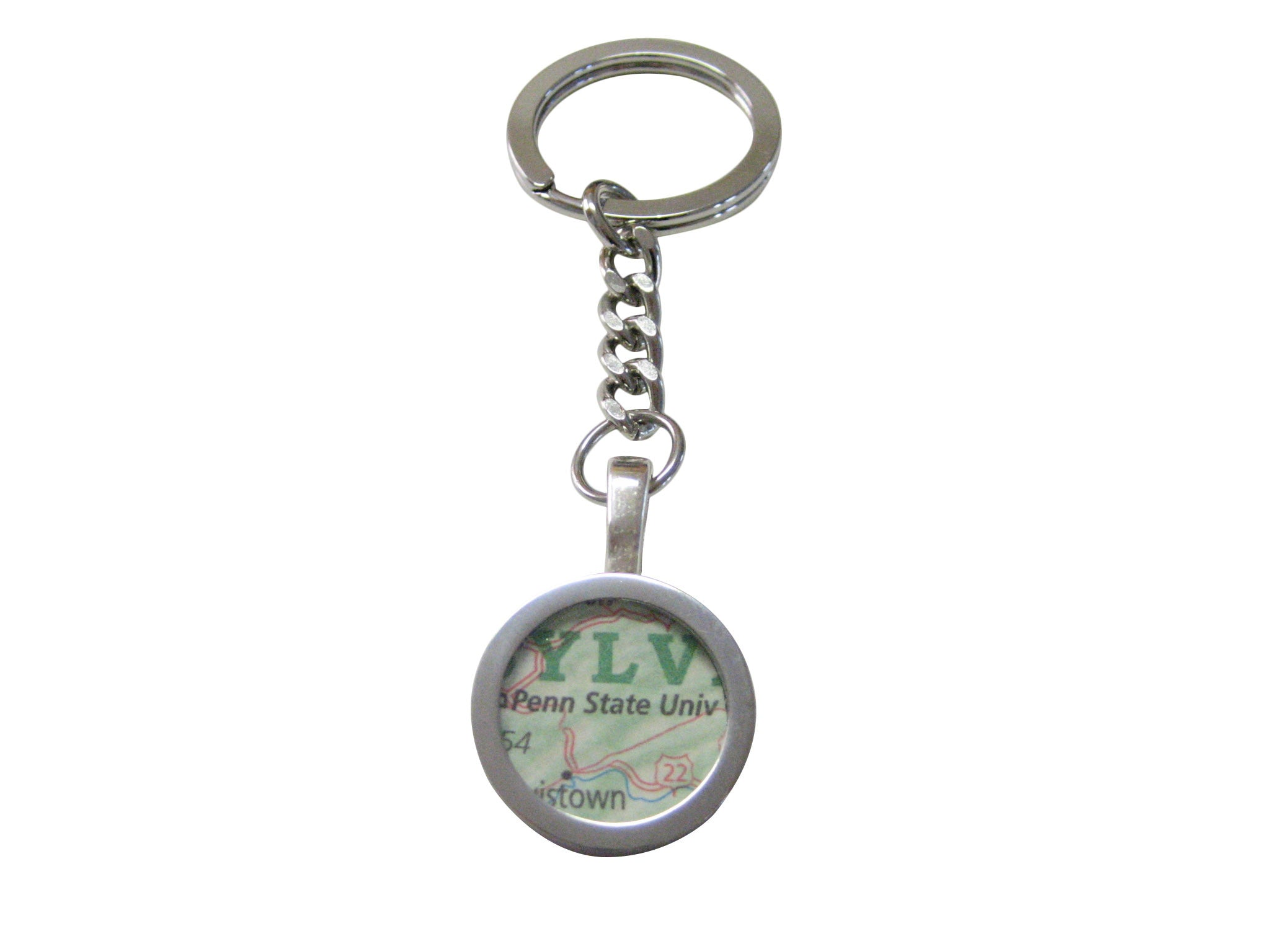 Penn State University Map Pendant Keychain