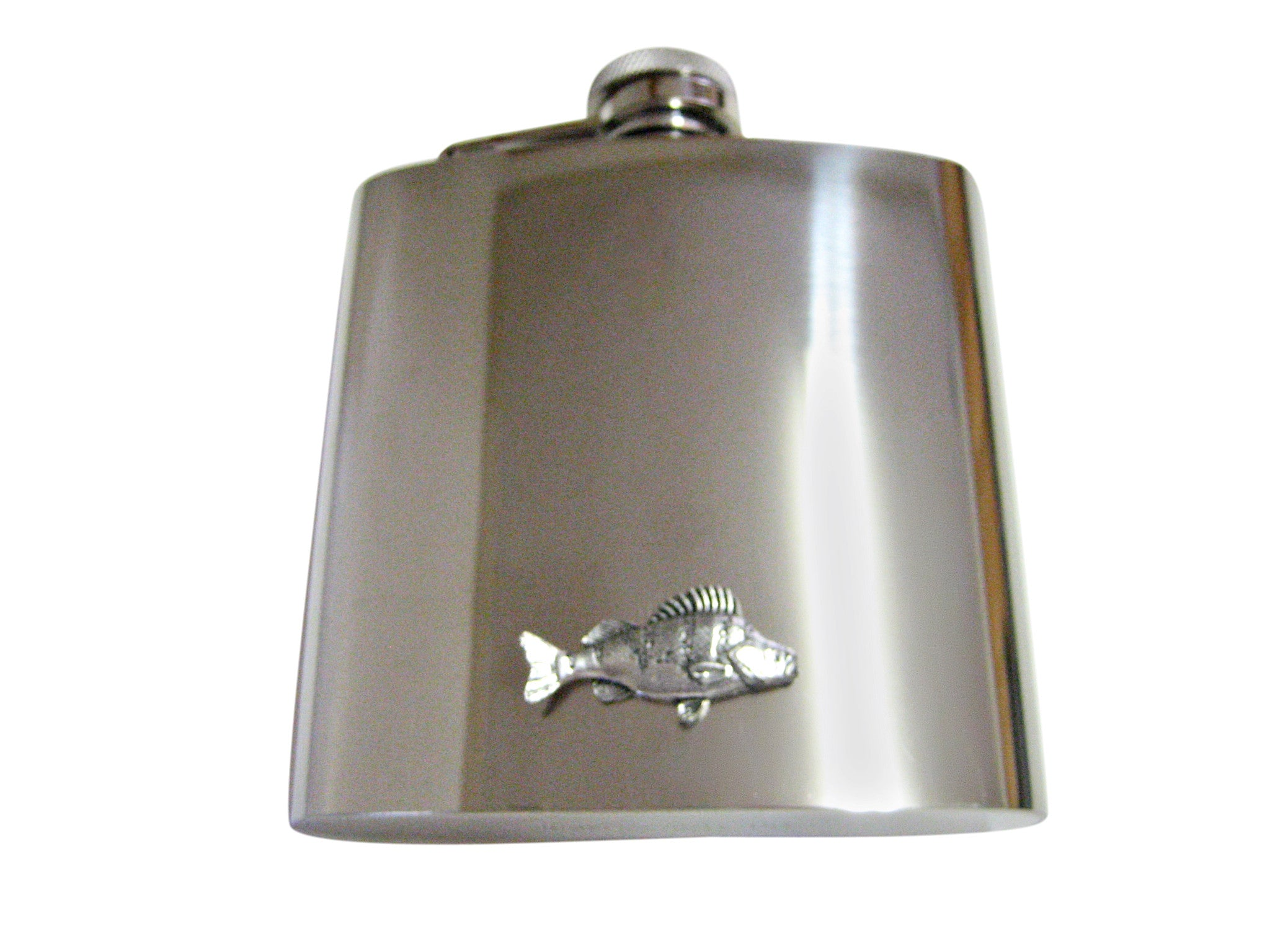 Perch Fish 6 Oz. Stainless Steel Flask