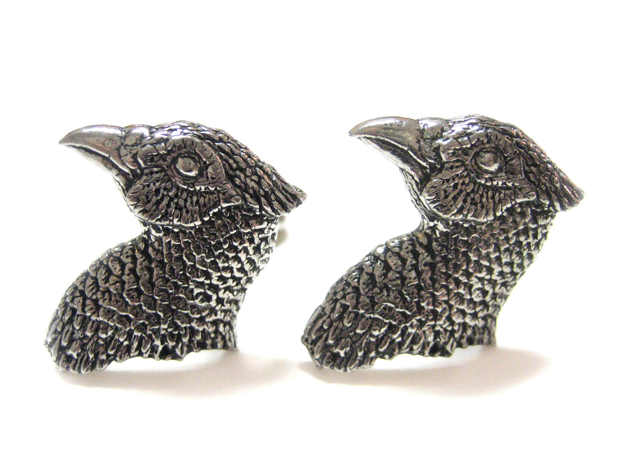 Pheasant Bird Head Cufflinks