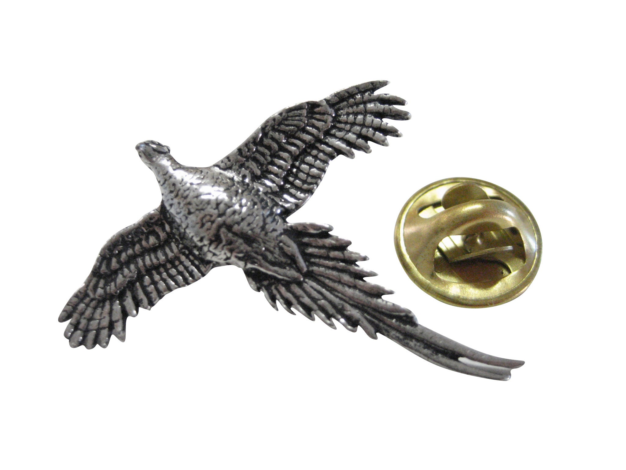 Flying Pheasant Bird Lapel Pin
