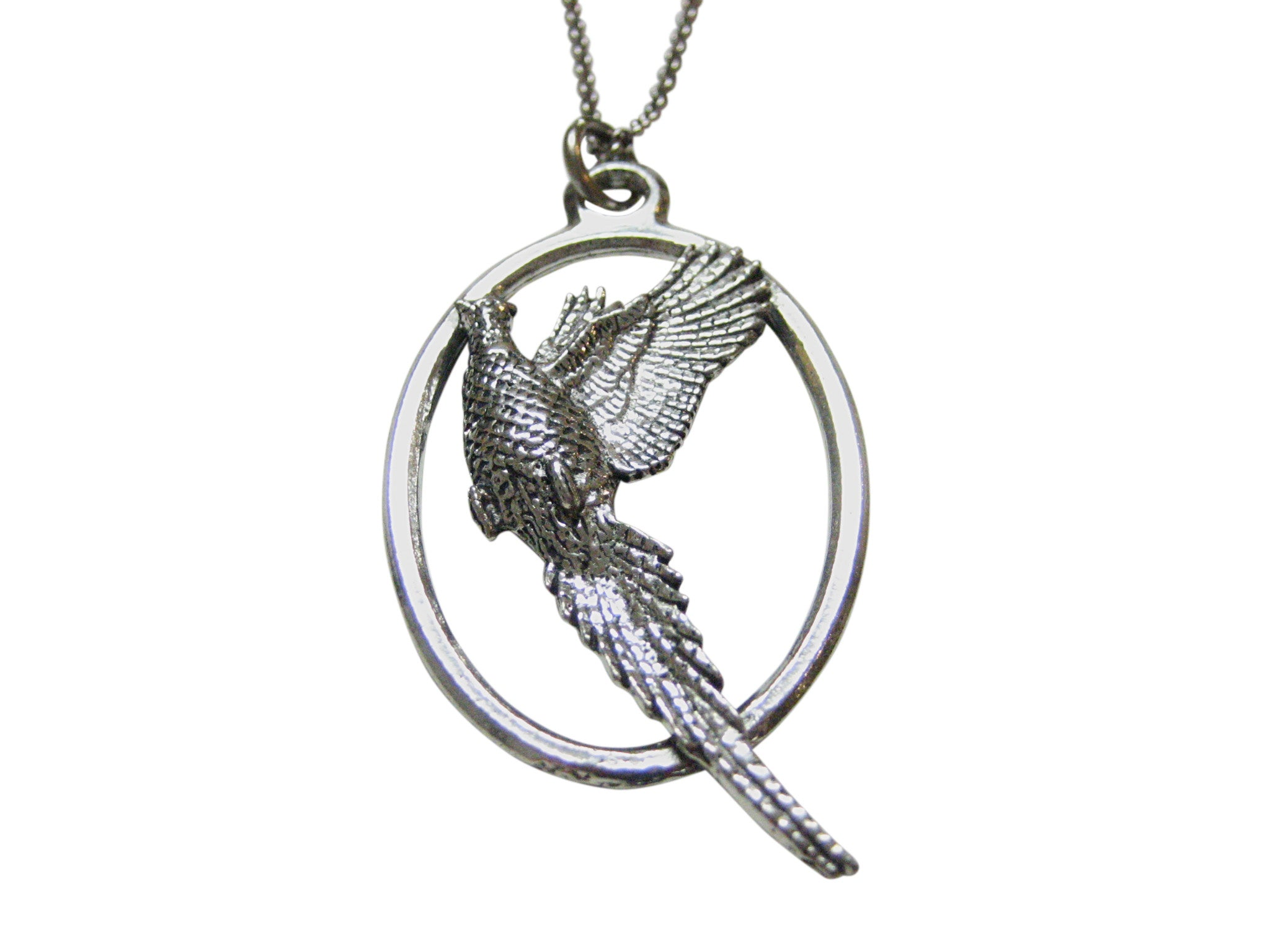 Pheasant Bird Large Oval Pendant Necklace