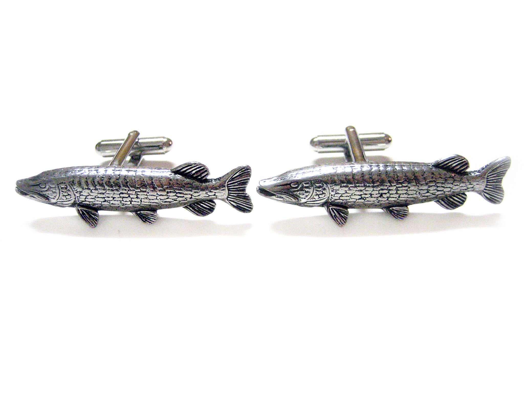 Pike Fish Cufflinks