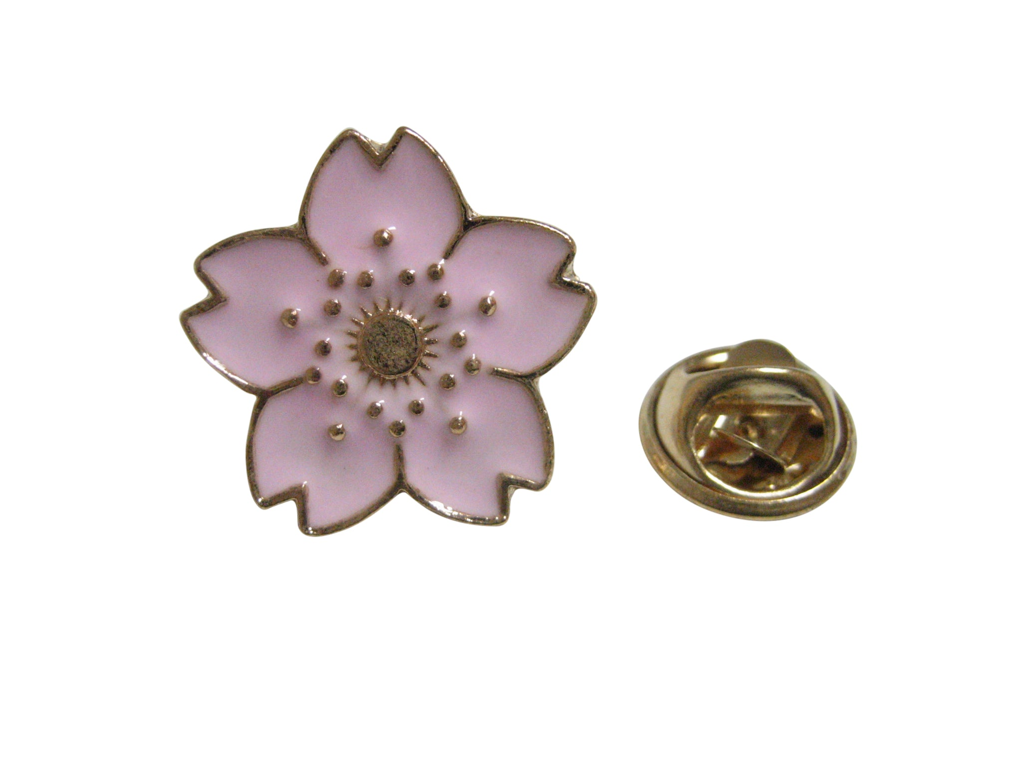 Pink Cherry Blossom Flower Lapel Pin