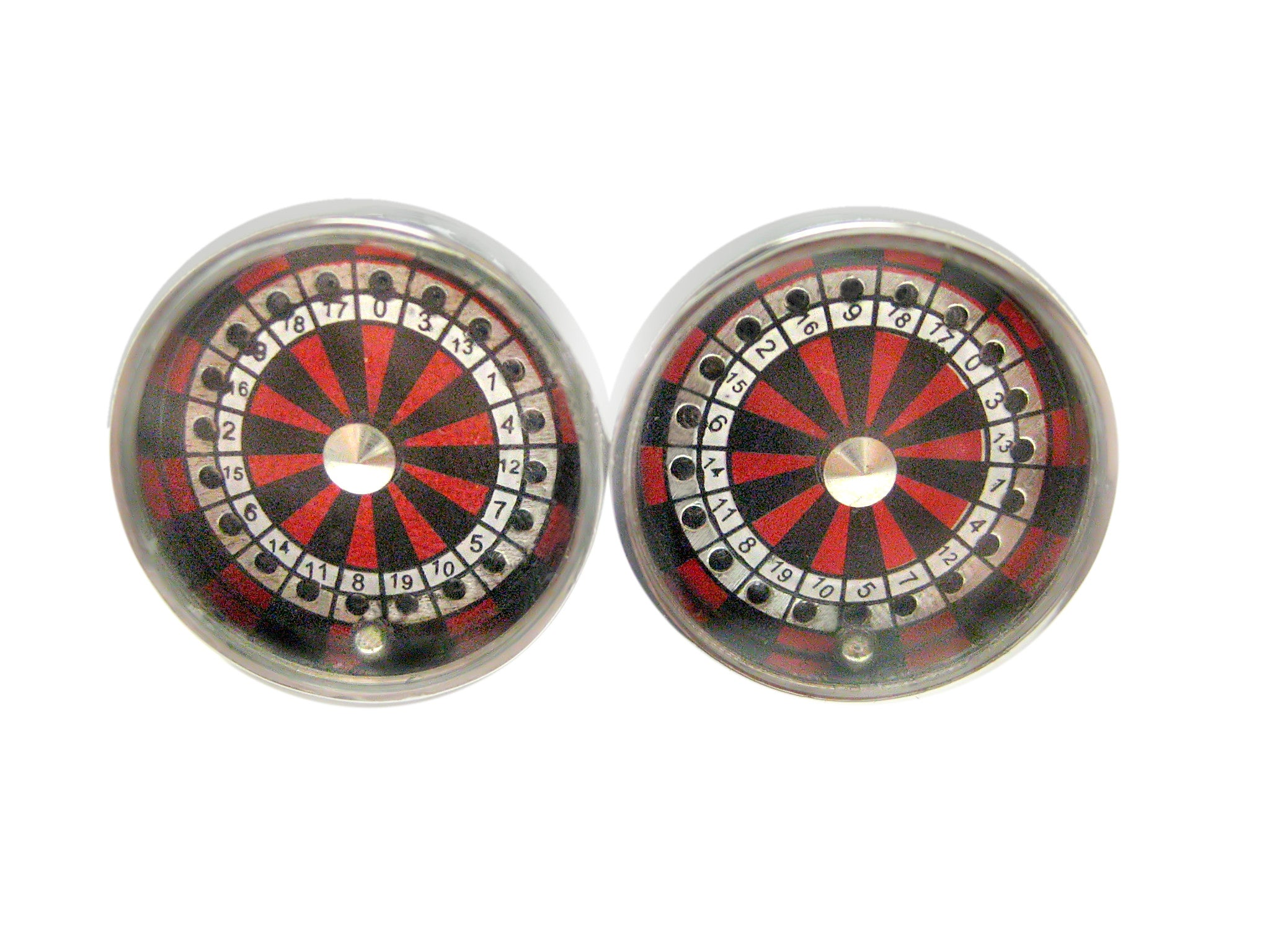 Playful Working Roulette Cufflinks