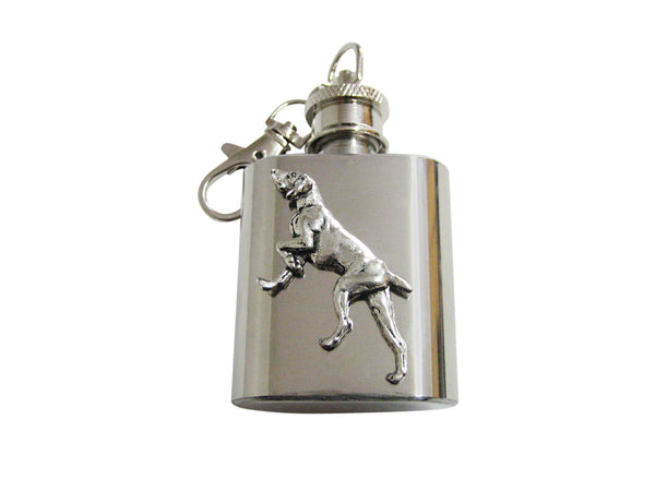 Pointer Dog 1 Oz. Stainless Steel Key Chain Flask