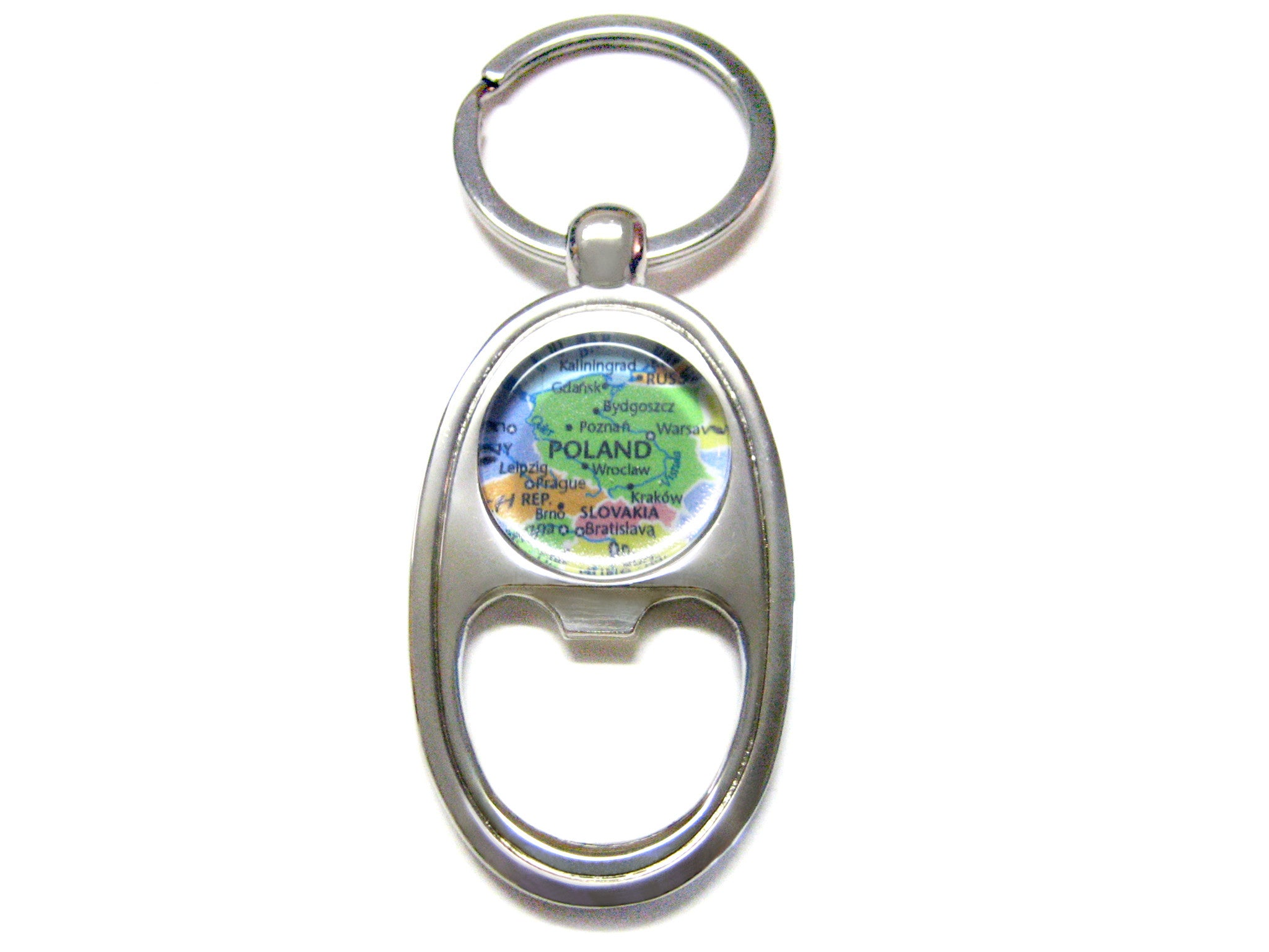 Poland Map Bottle Opener Key Chain