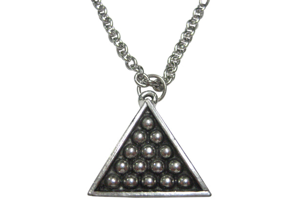 Pool Billiards Triangle Pendant Necklace