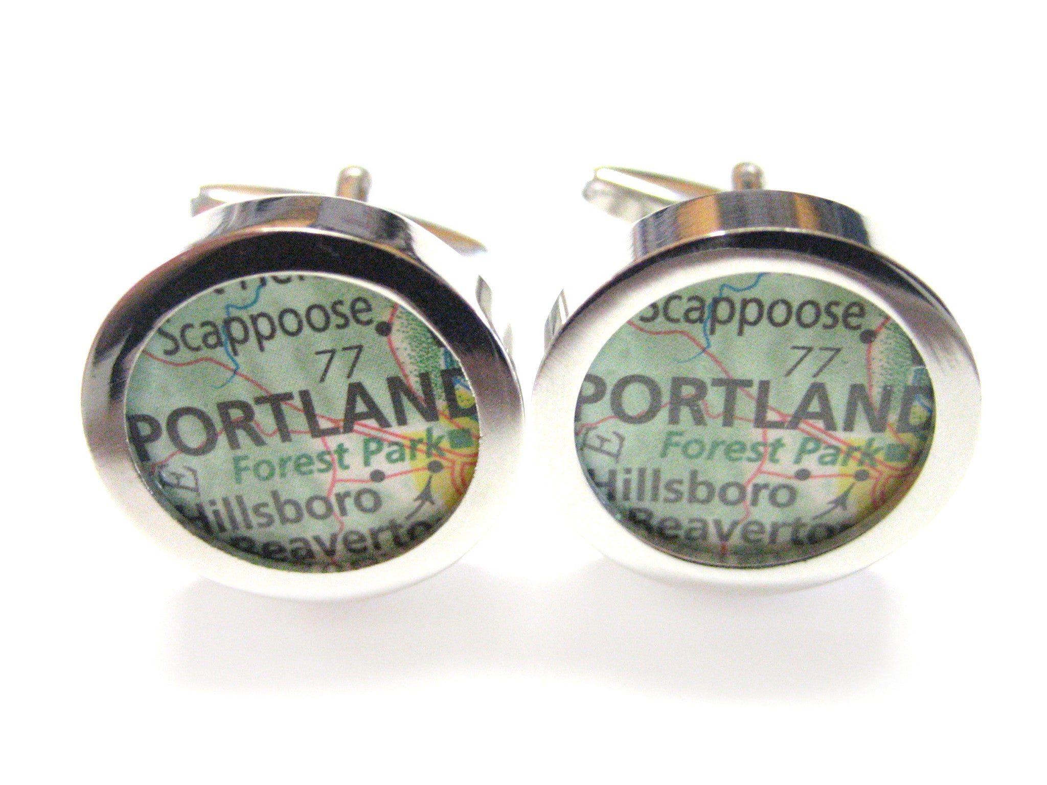 Portland Oregon Map Cufflinks